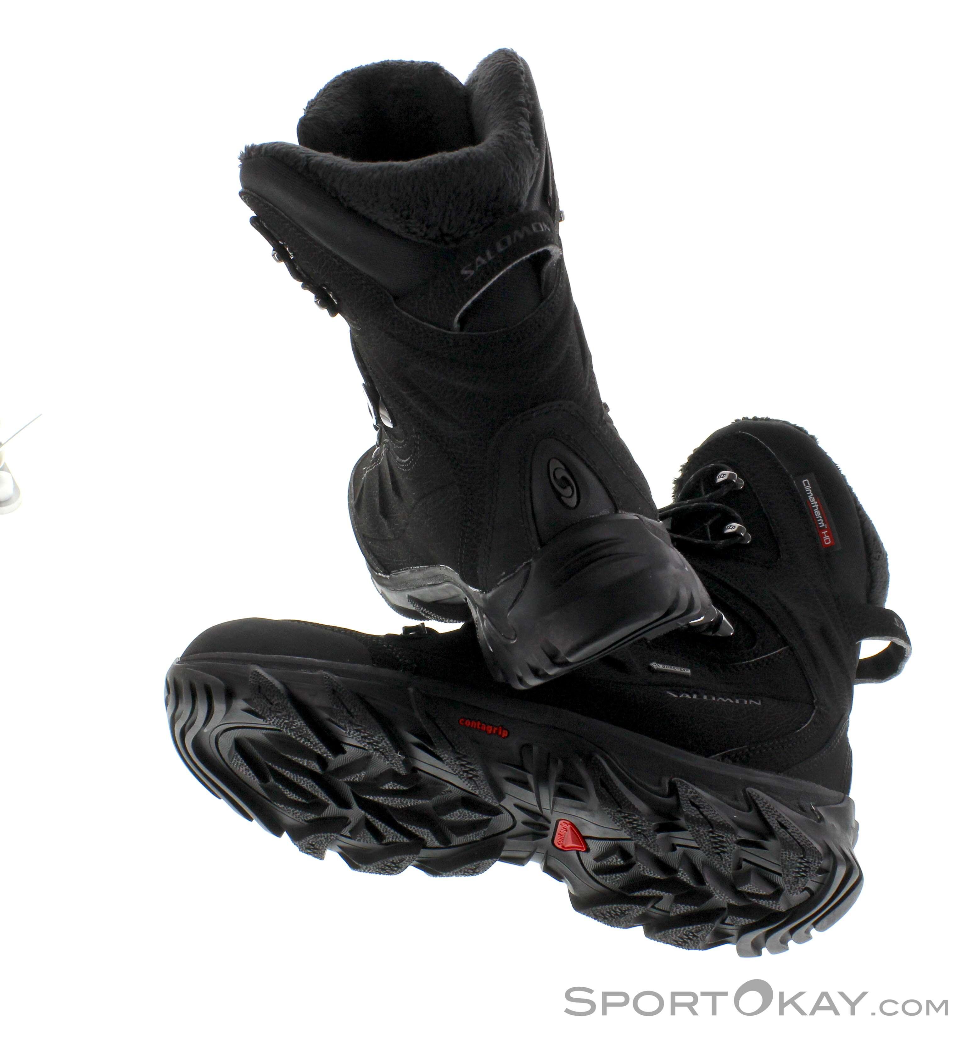 Salomon GORE TEX Kinder Winter Schuhe GTX Winter Stiefel wasserdicht schwarz