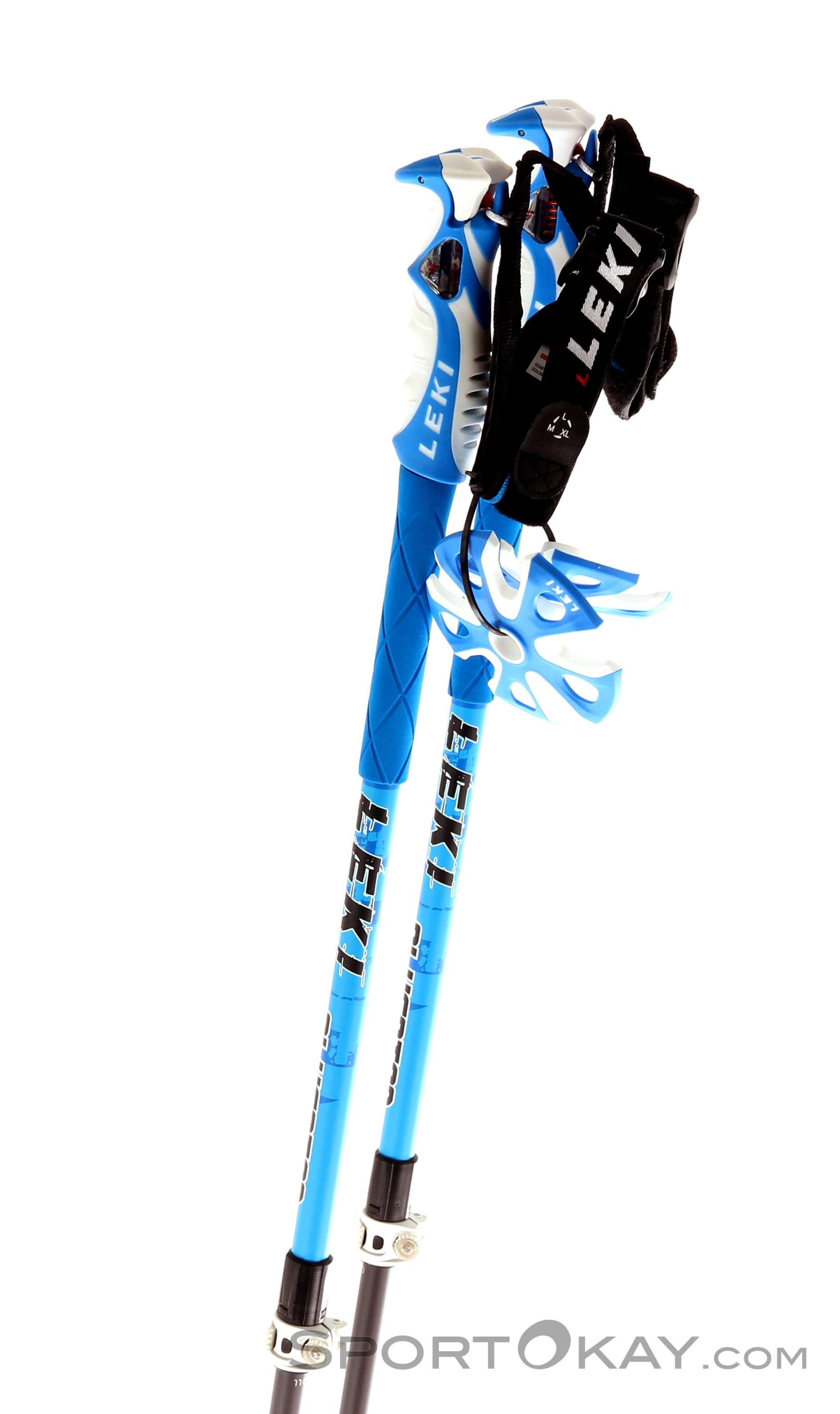 0f90ceabbd3 Leki Blue Bird Vario Freeride Ski Poles - Telescopic Poles 2 Pcs ...