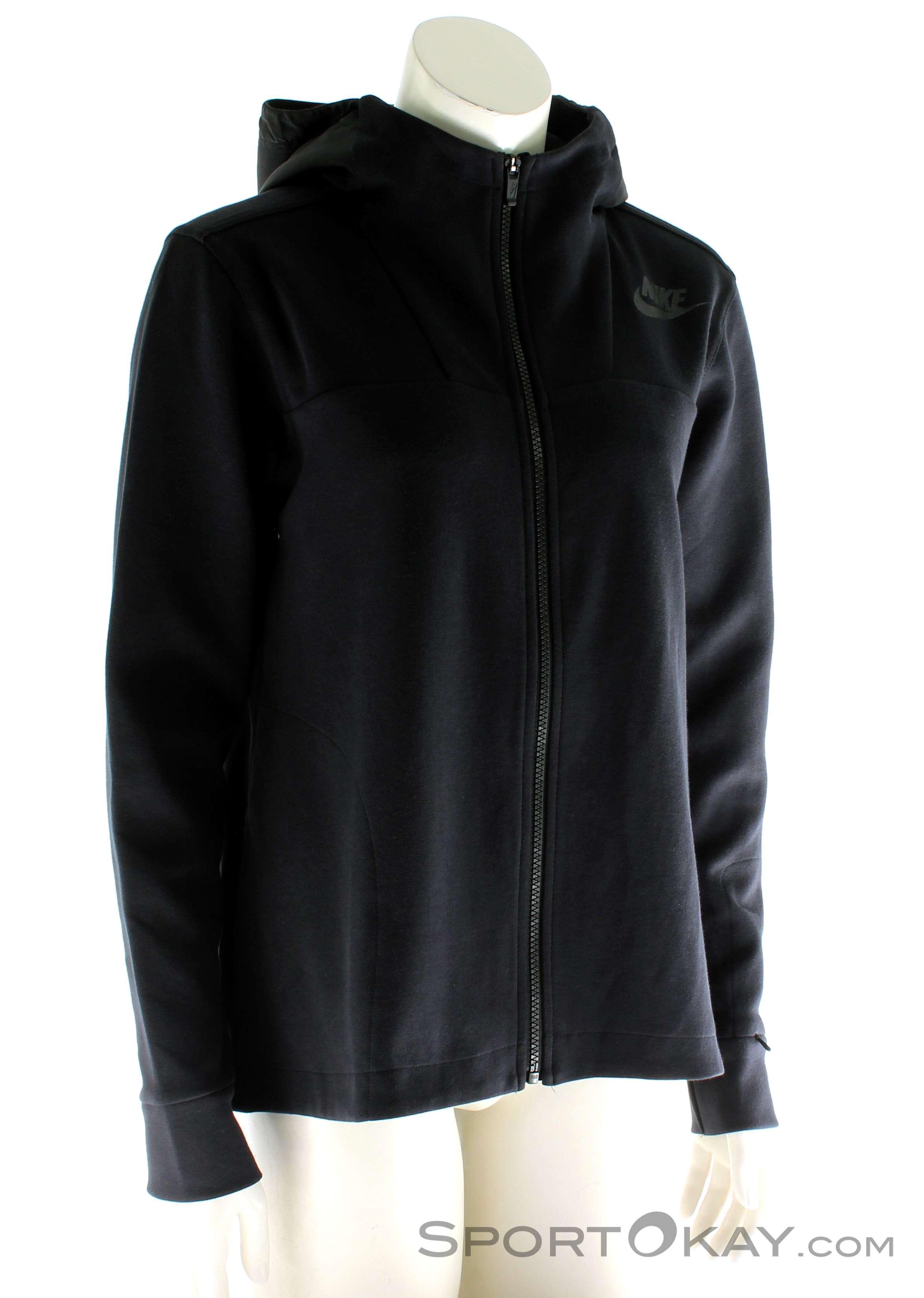 763c8e93df Nike Advance 15 Fleece Donna Maglia per il Tempo Libero , Nike, Nero, ,