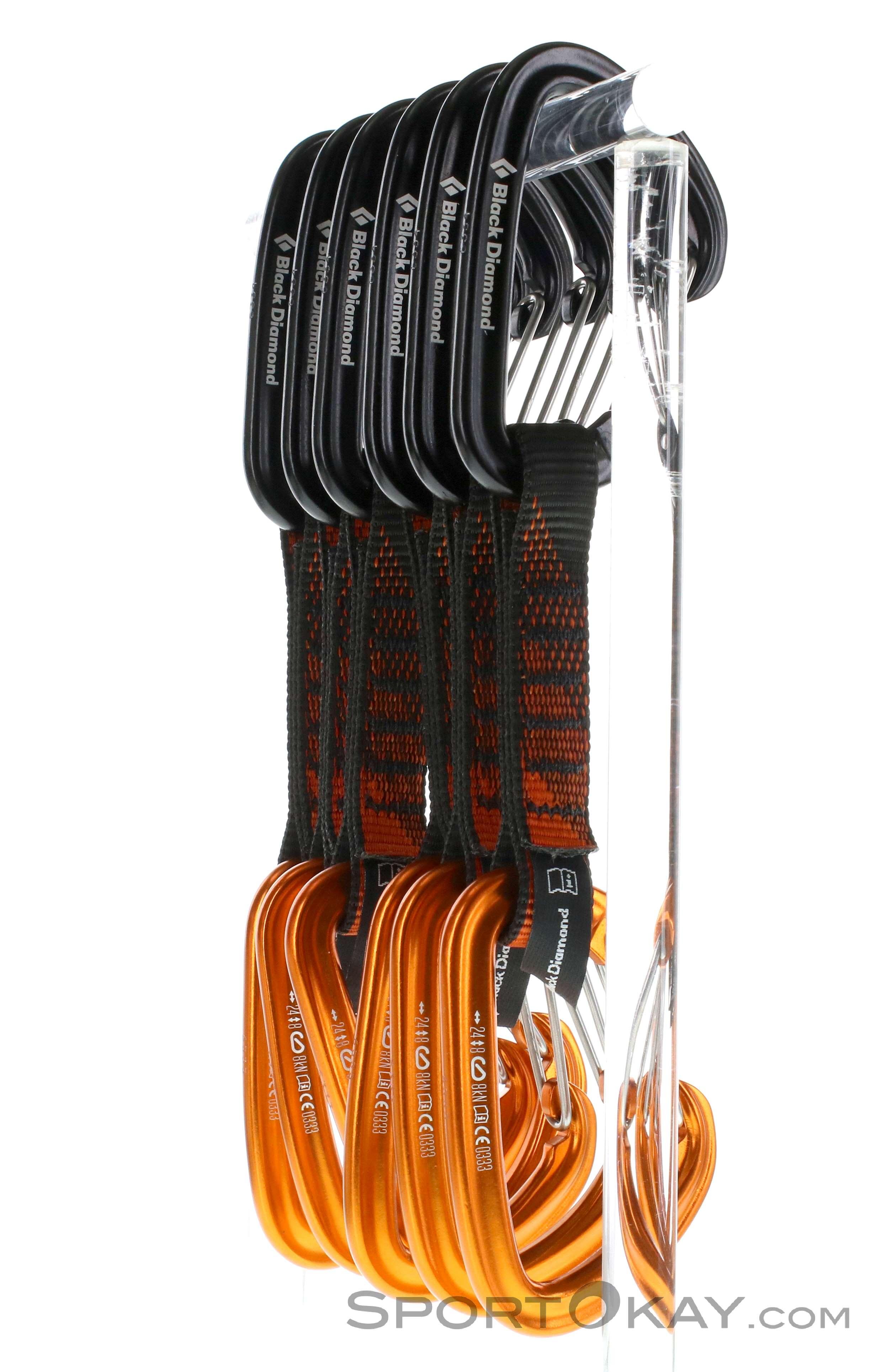 Black Diamond Freewire Quickpack Quickdraws 6 Pack 12cm