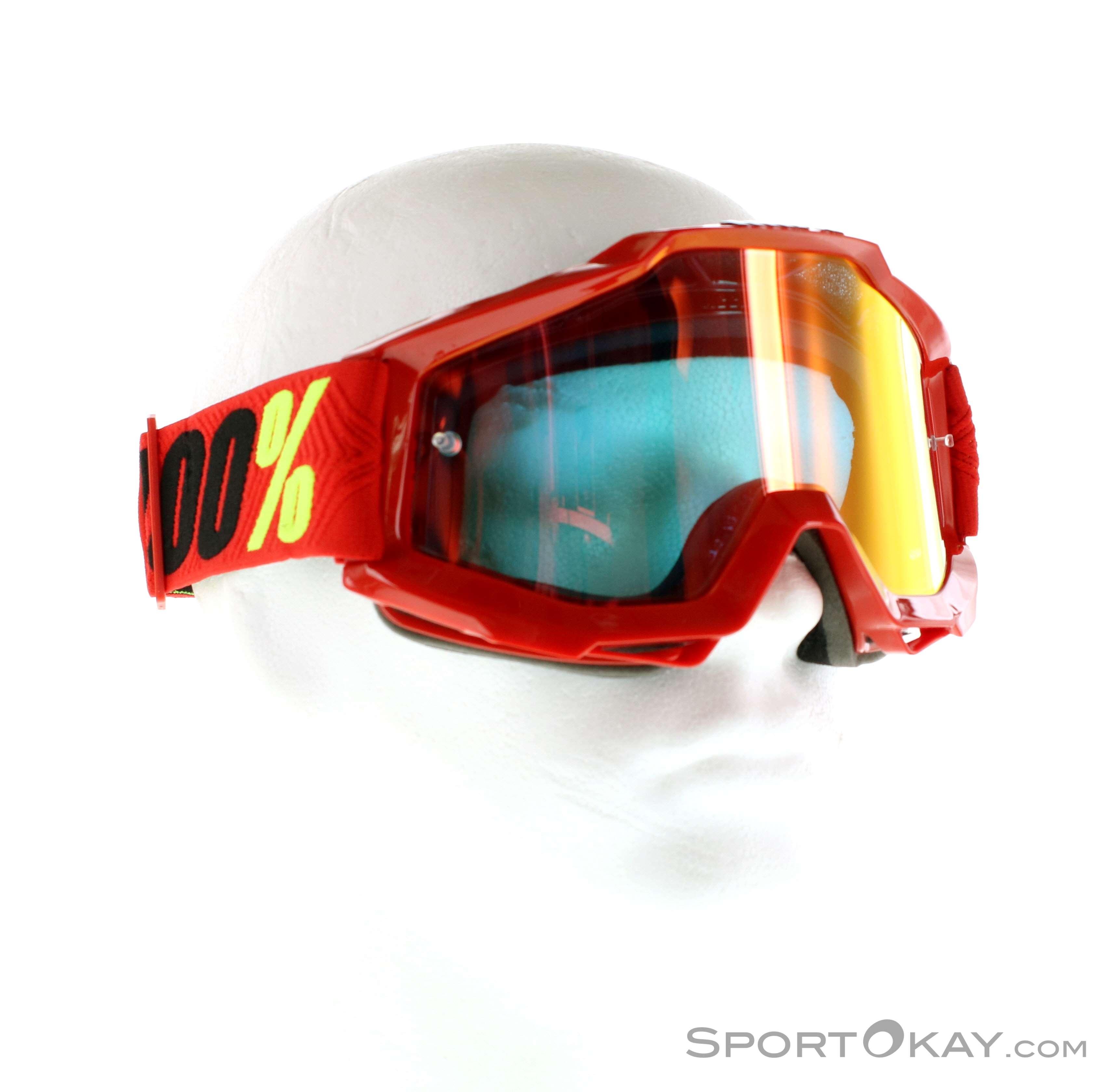100% Accuri Anti Fog Goggle Mirror Lens Downhillbrille, 100%, Rot, , Herren, 0156-10039, 5637544521, 841269104197, N1-01.jpg