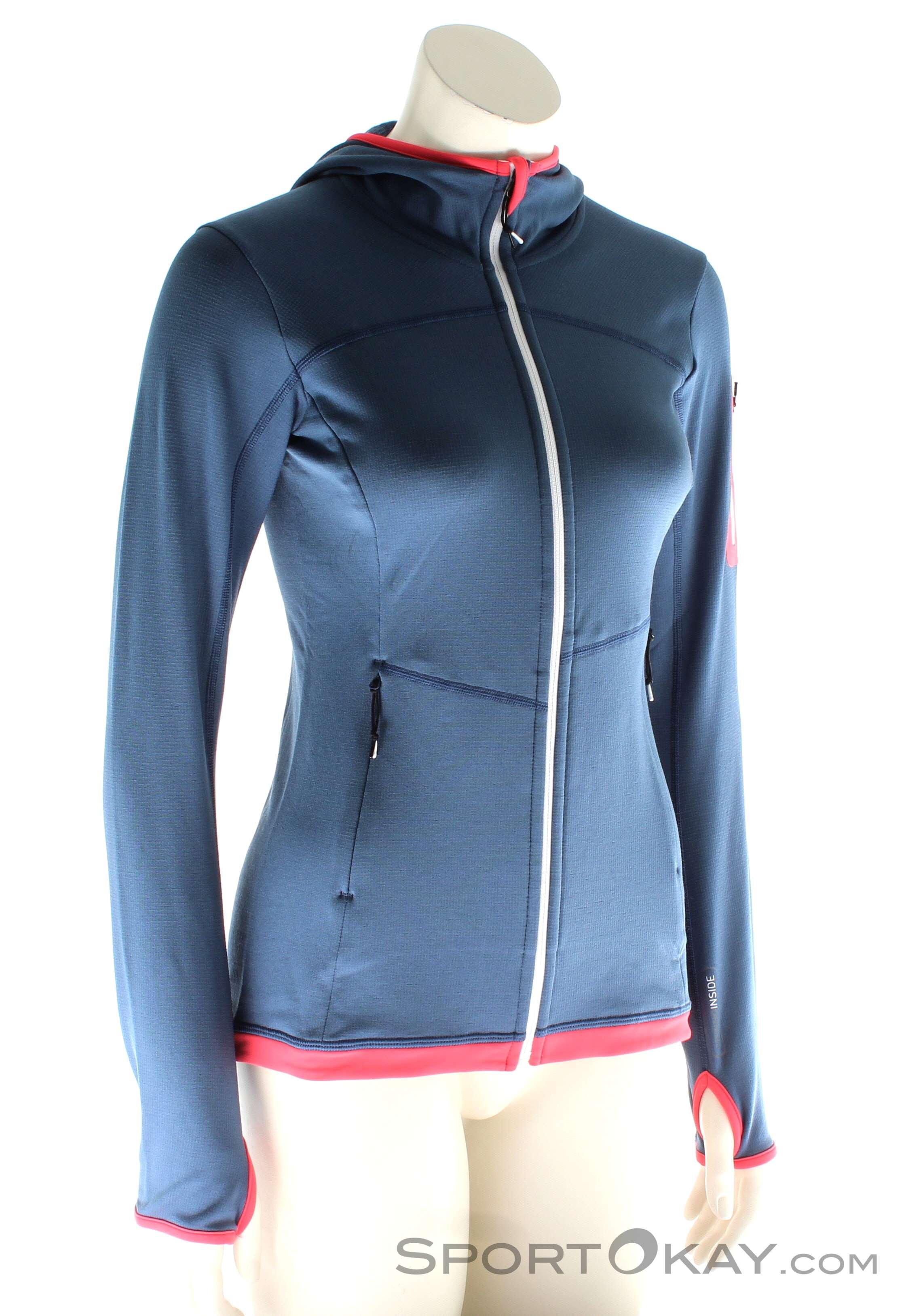 Ortovox Fleece Light Hoody Damen Tourensweater, Ortovox, Blau, , Damen, 0016-10578, 5637562039, 4250875282995, N1-01.jpg