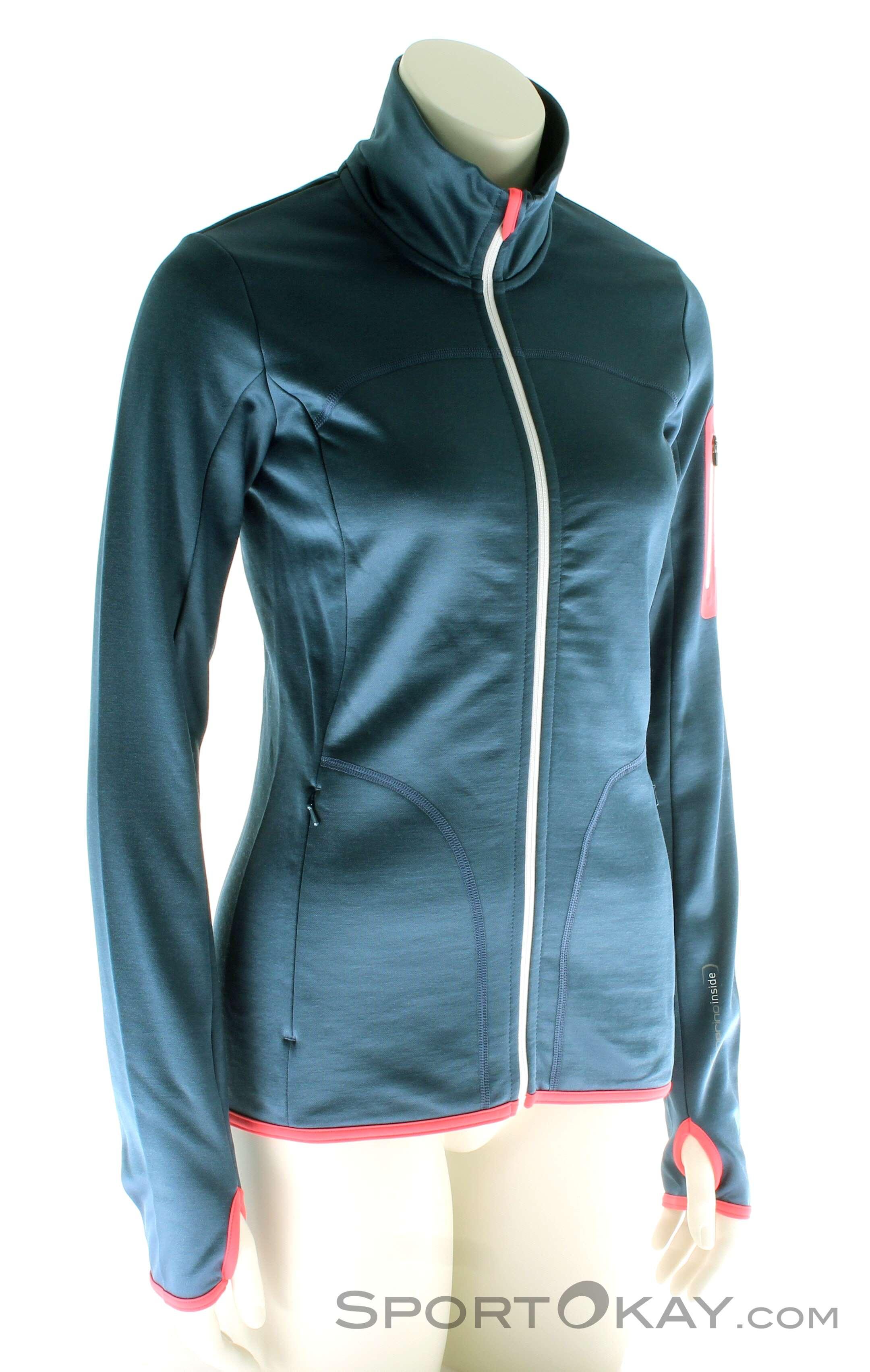 Ortovox Fleece Jacket Damen Tourensweater, Ortovox, Blau, , Damen, 0016-10580, 5637562638, 4250875282223, N1-01.jpg