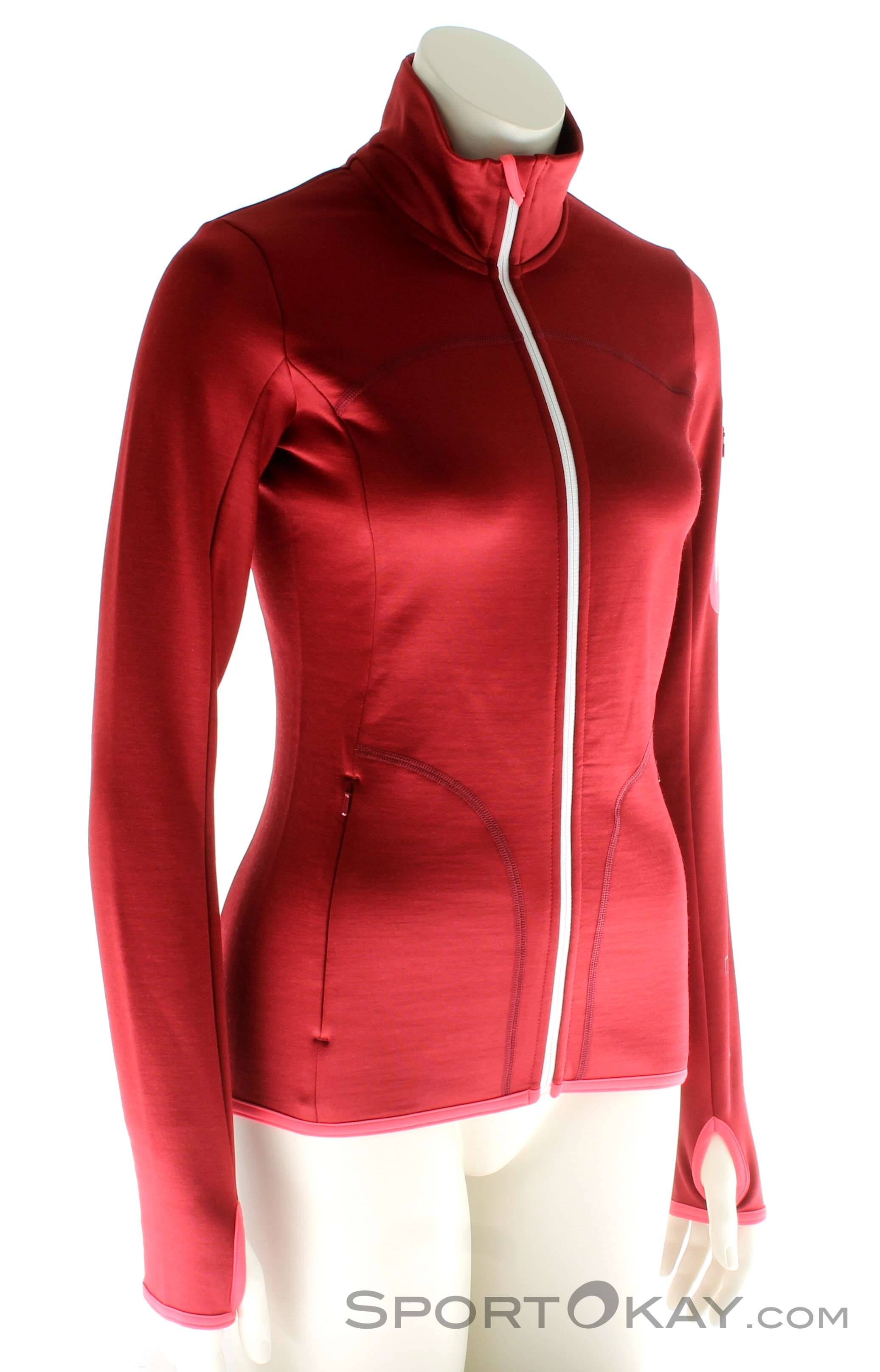 Ortovox Fleece Jacket Damen Tourensweater, Ortovox, Rot, , Damen, 0016-10580, 5637562644, 4250875282261, N1-01.jpg