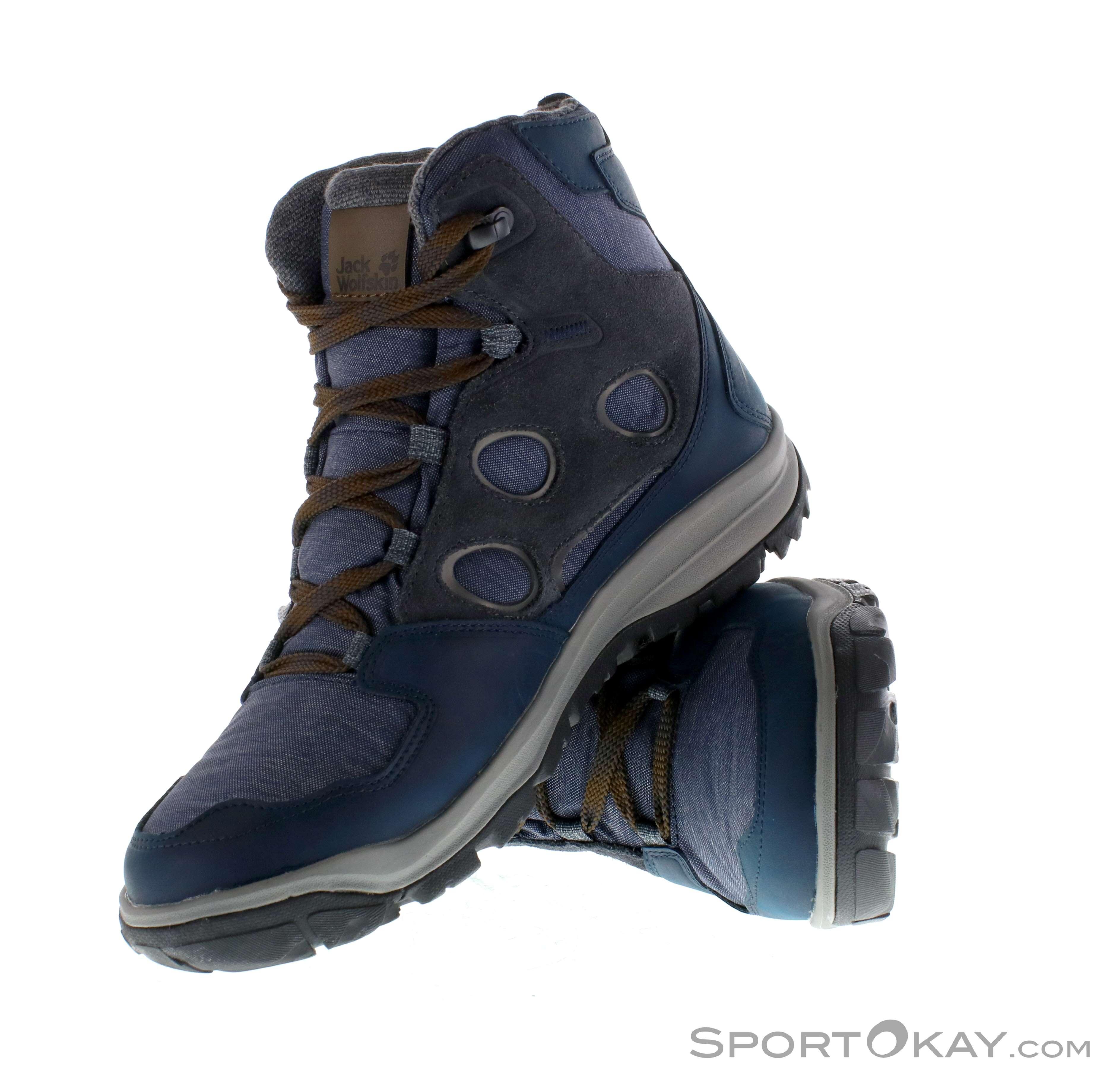 aaaadaa0 Jack Wolfskin Vancouver Texapore Mid Mens Hiking Boots, Jack Wolfskin,  Blue, , Male
