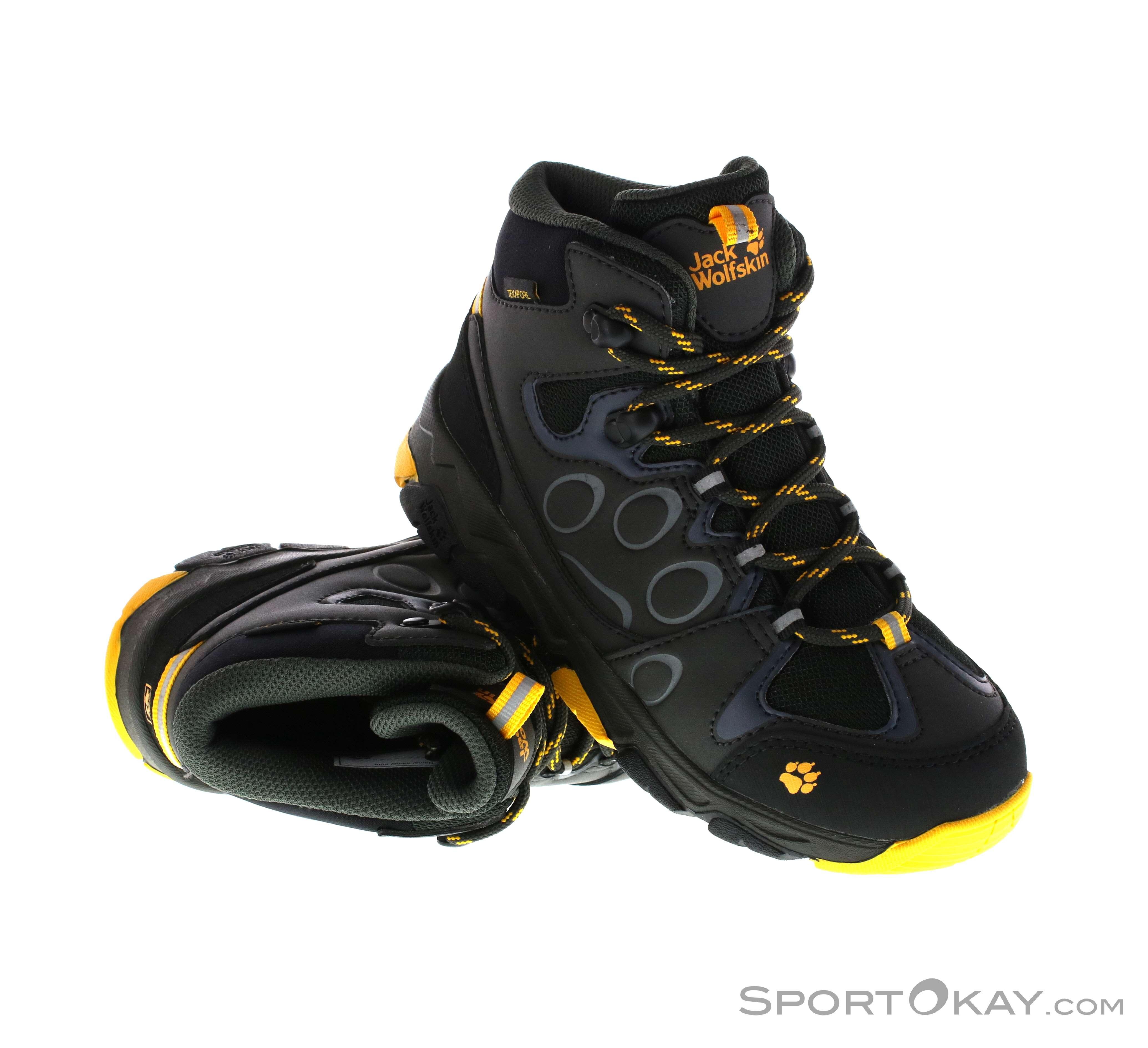 Kids MTN 2 Attack Boots Texapore Mid Wolfskin Hiking Wolfskin Jack Jack AqcS34jRL5