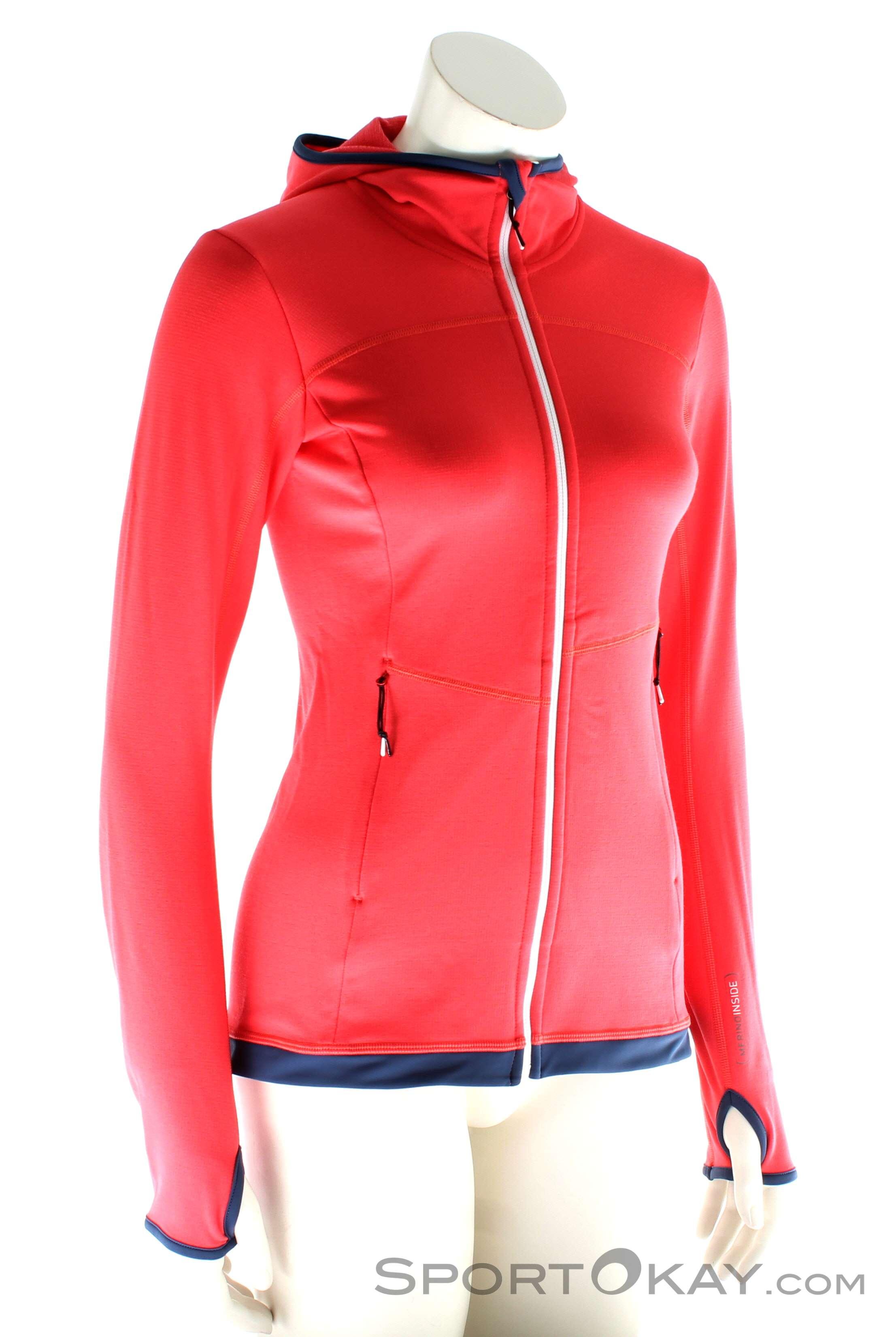 Ortovox Fleece Light Hoody Damen Tourensweater, Ortovox, Pink-Rosa, , Damen, 0016-10578, 5637580009, 4250875282896, N1-01.jpg