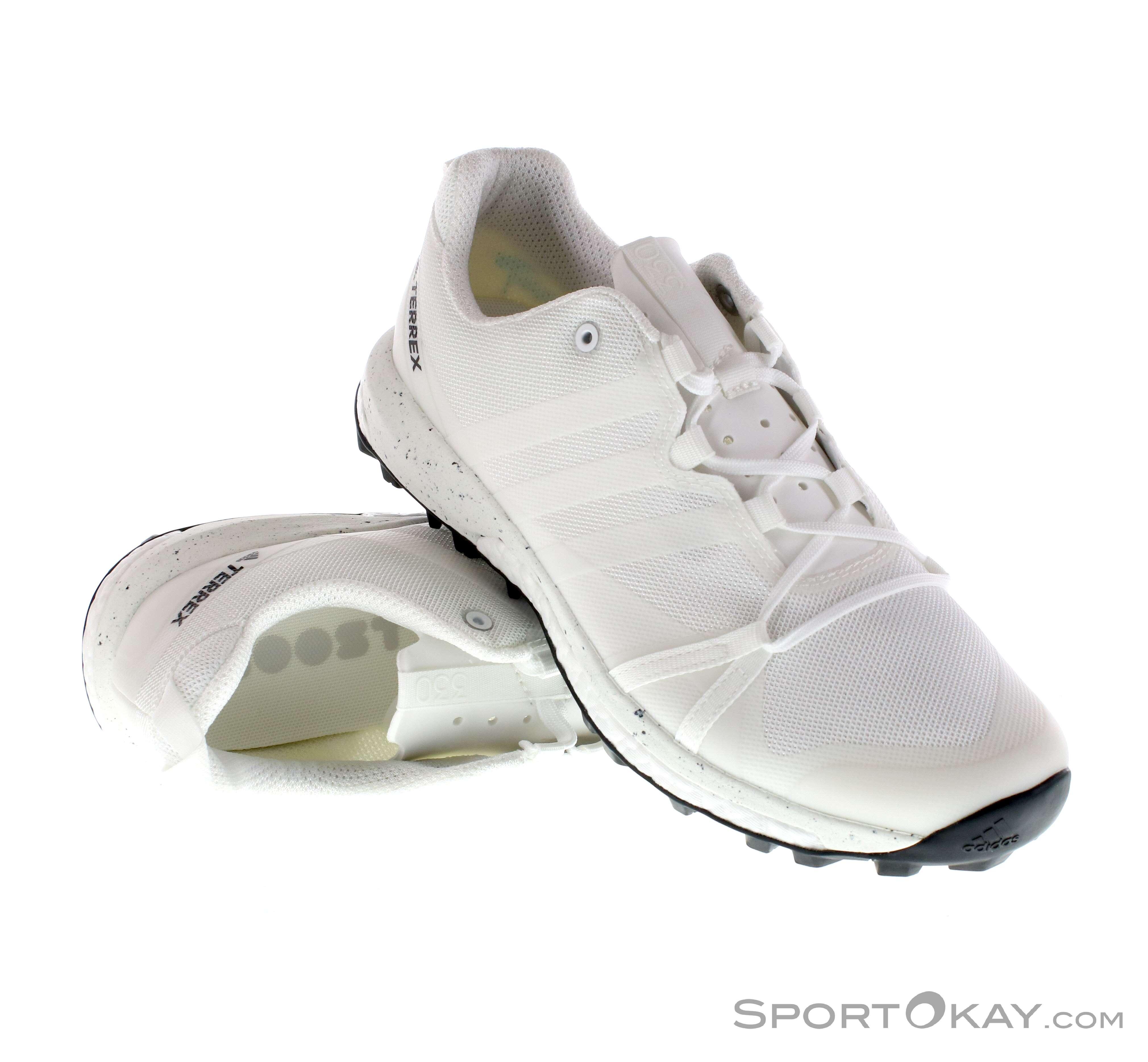 32dcd5ed9e3c9 adidas Terrex Agravic Mens Trail Running Shoes, adidas, White, , Male, 0002