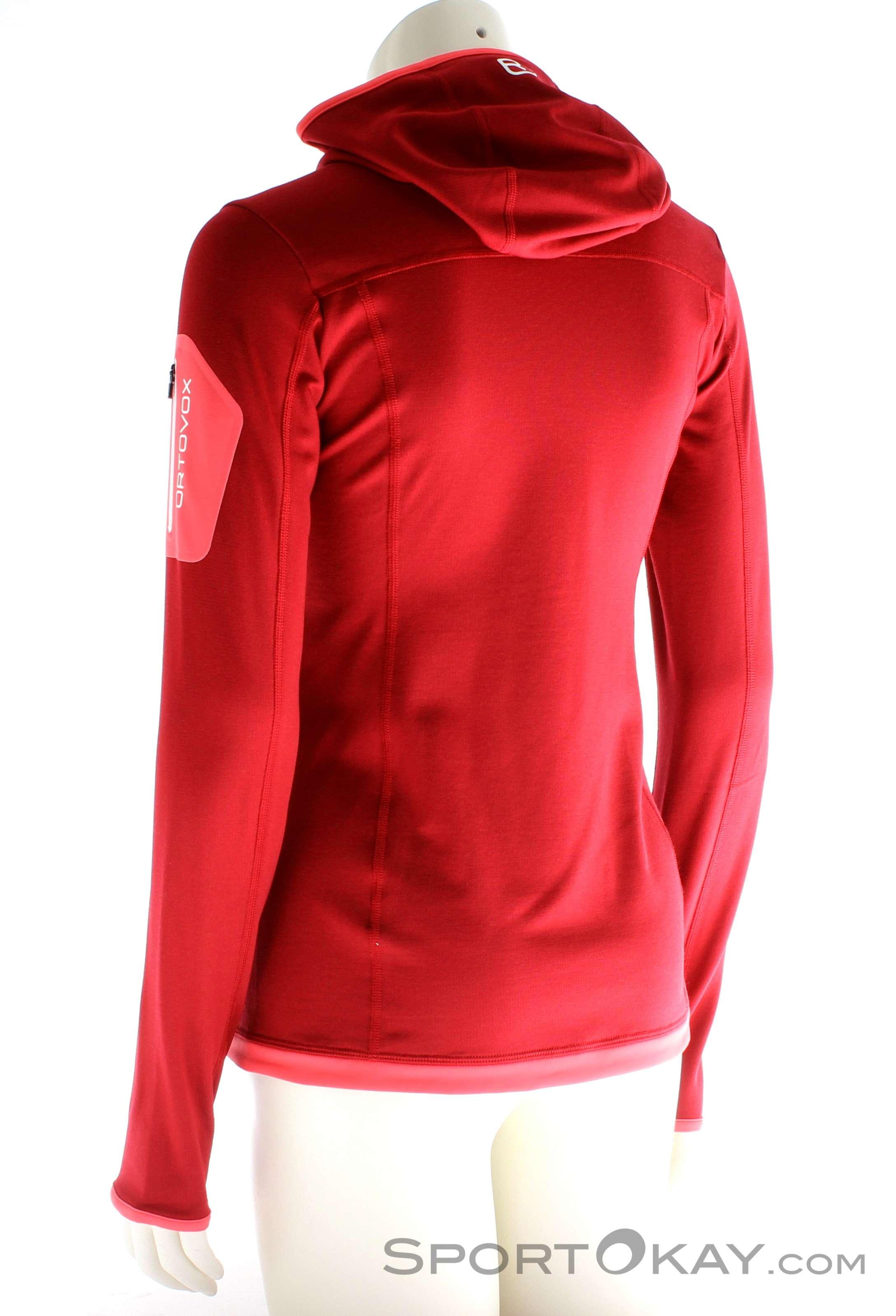 Ortovox Fleece Light Hoody Damen Outdoorsweater, Ortovox, Rot, , Damen,  0016- 75ad91b2f9