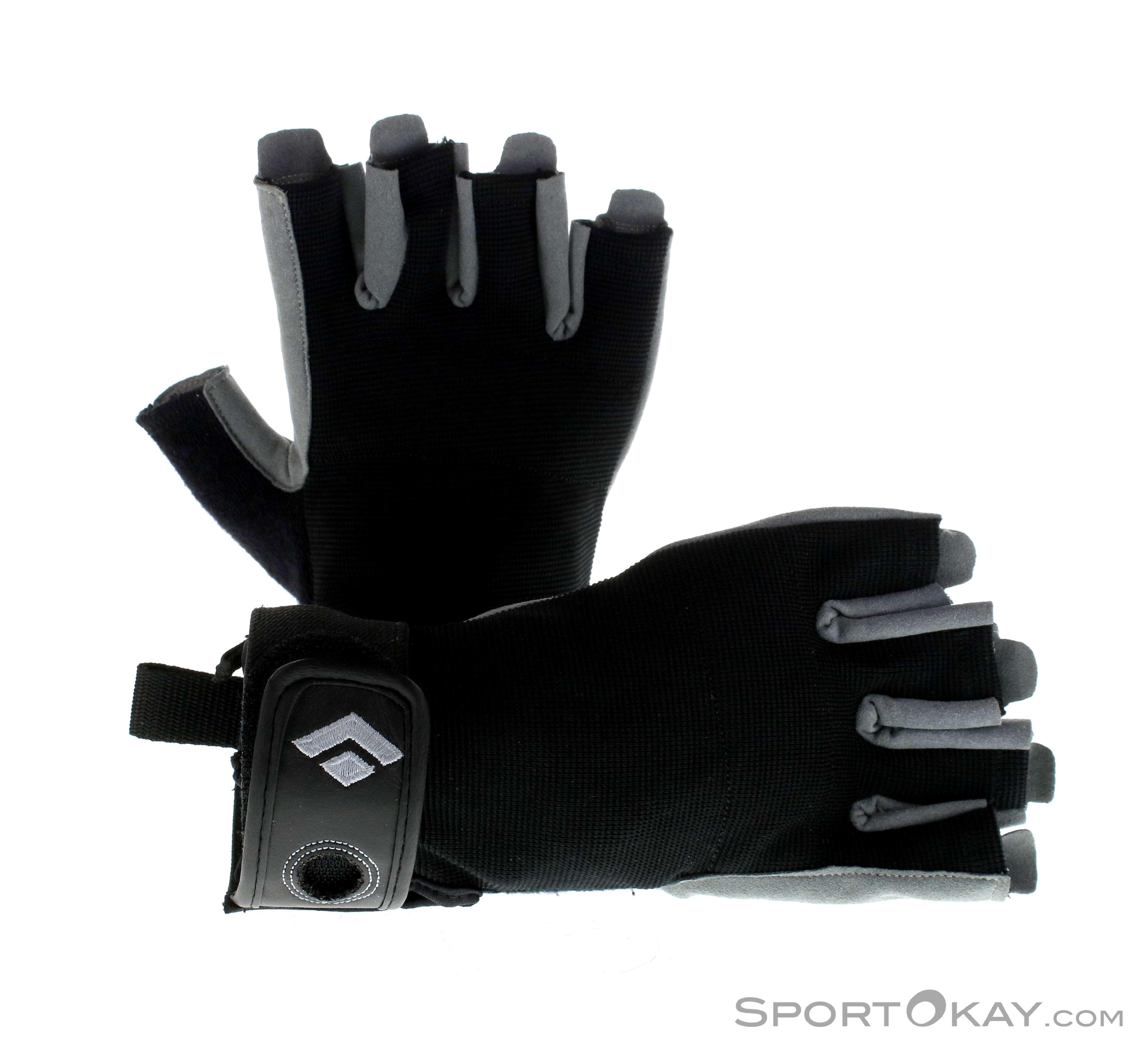 9fe3033bc4972 Black Diamond Crag Halbfinger Half Finger Gloves, Black Diamond, Black, ,  Male,