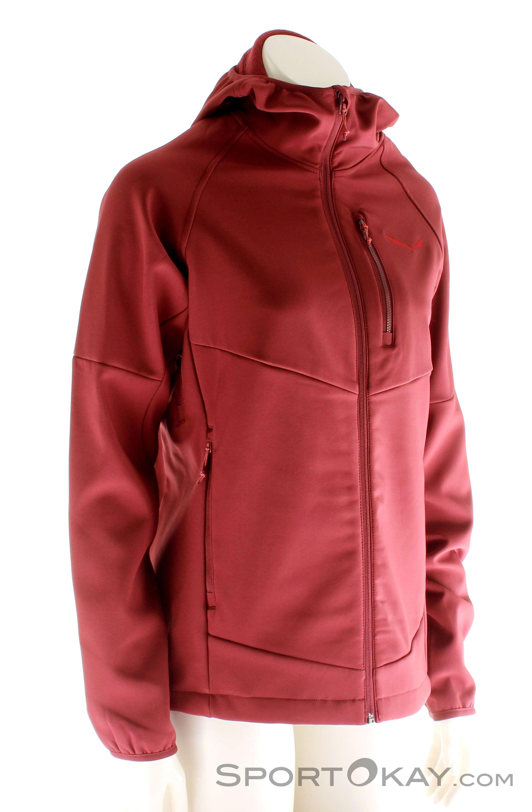 Salewa Puez Polarlite Donna Giacca Softshell con cappuccio Rosso scuro