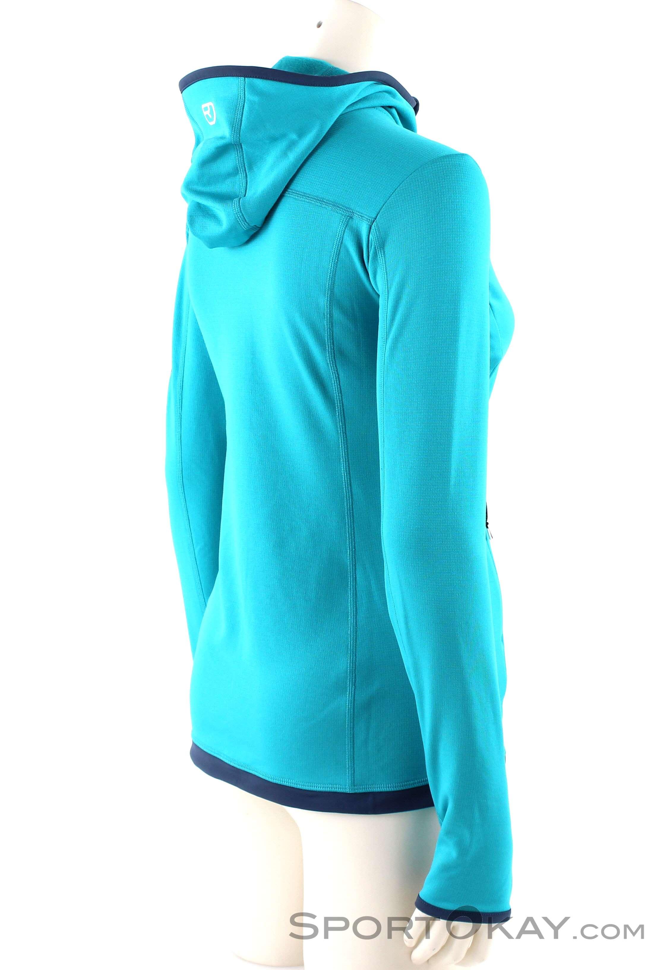 Ortovox Fleece Light Hoody Damen Outdoorsweater, Ortovox, Türkis, , Damen,  0016- 32dcf0d22f