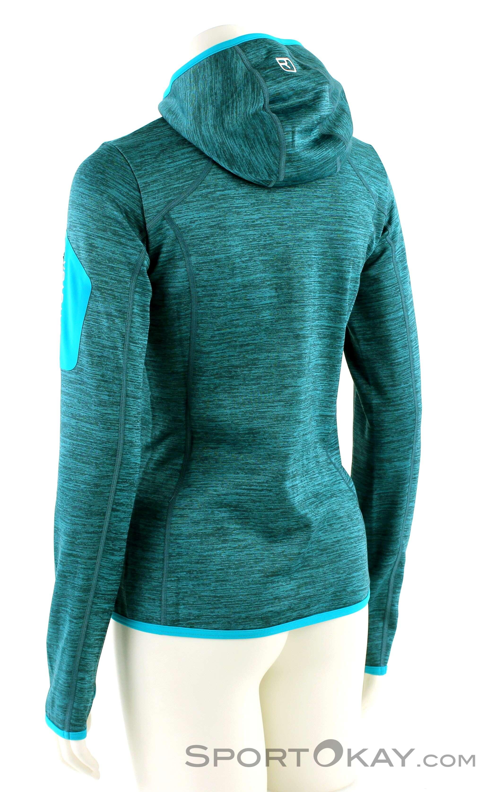 Ortovox Fleece Melange Hoody Damen Tourensweater, Ortovox, Türkis, , Damen,  0016- bbb2be1e9b