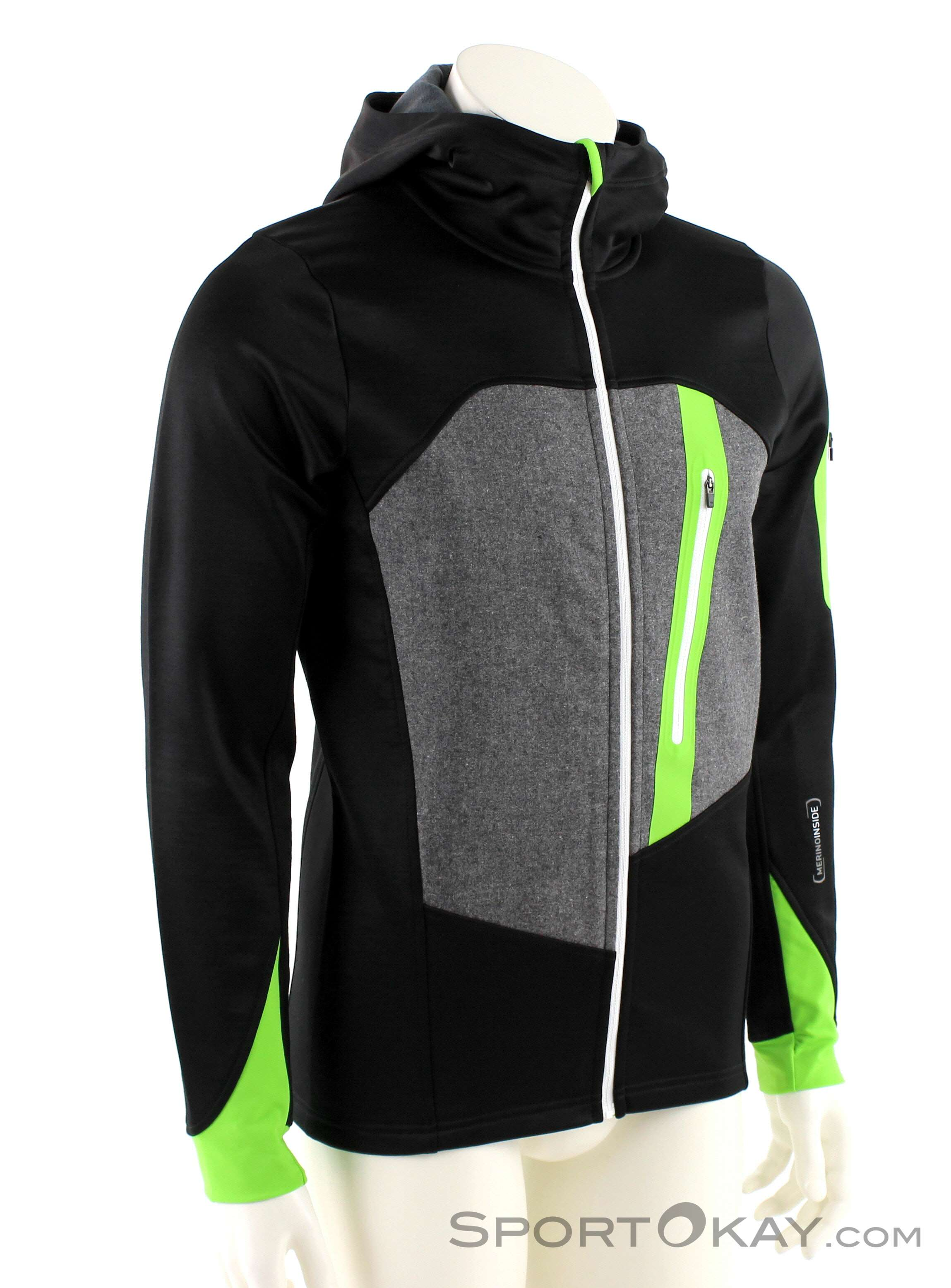 Loden Mens Ortovox Sweater Touring Ski Fleece Hoody eCrdBox