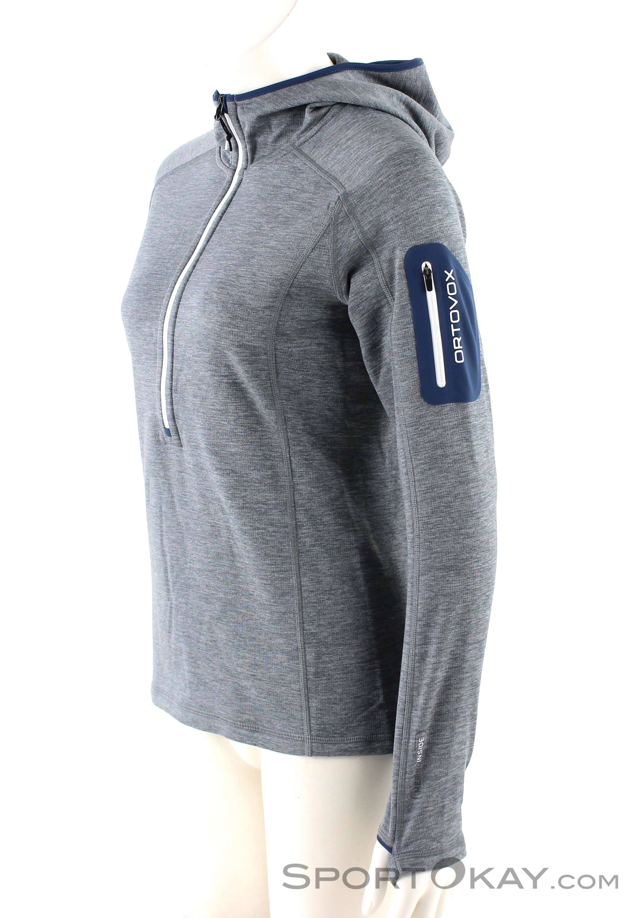a0fbb3ef564e7 Ortovox Fleece Light Melange Zneck Womens Fleece Jacket - Sweaters ...