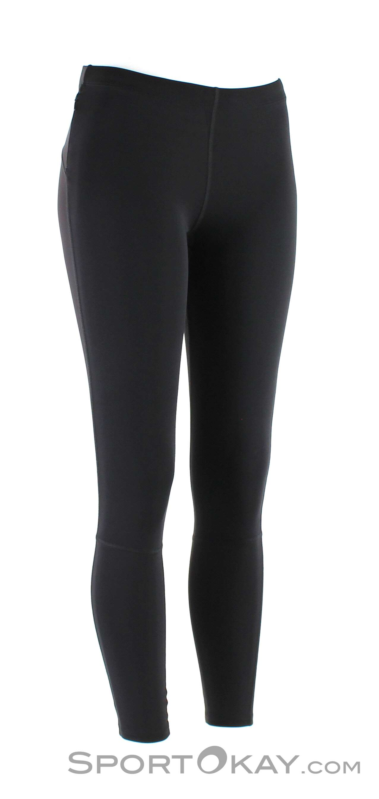 asics damen tights schwarz blau