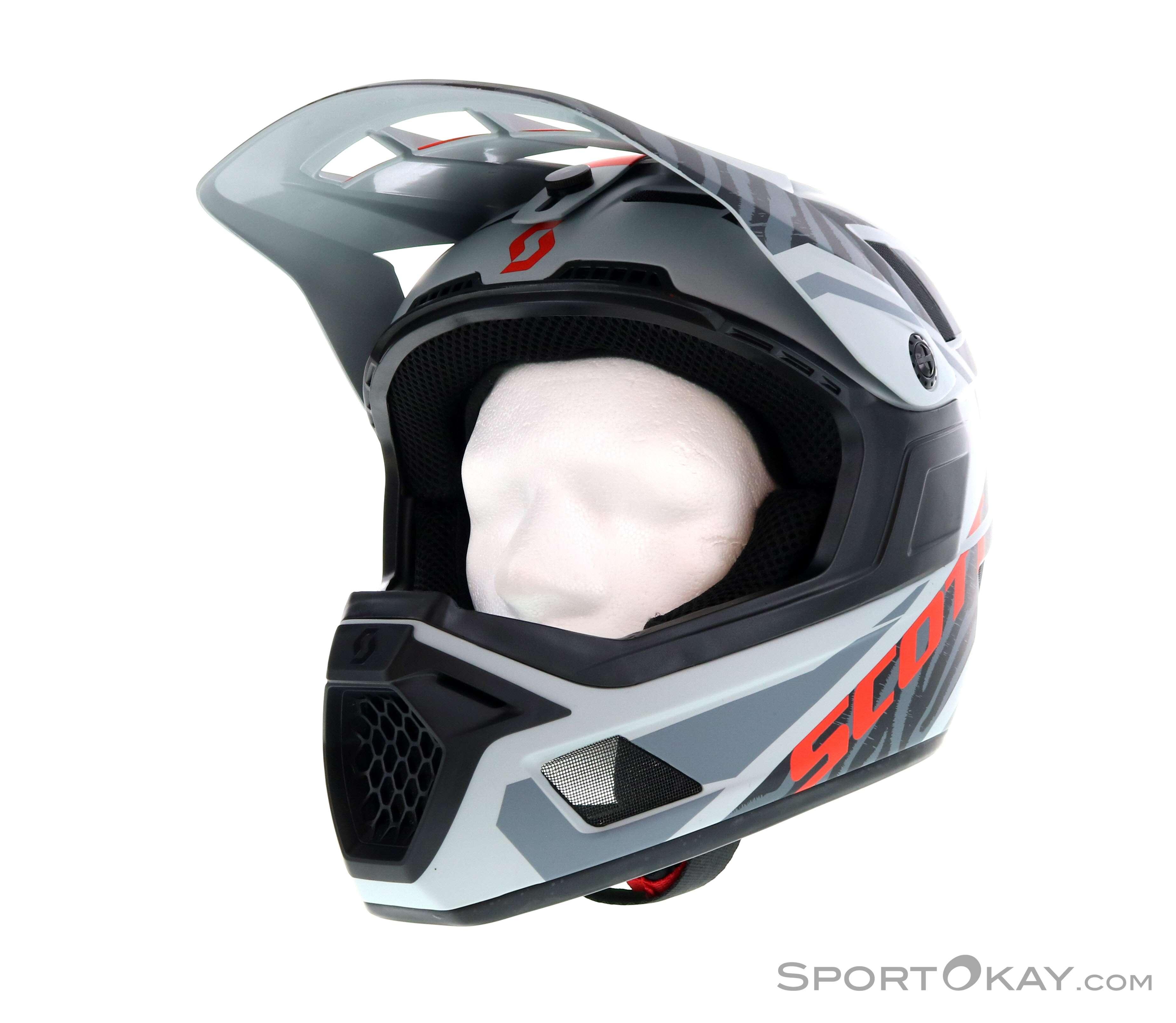 Scott Nero Plus MTB Full Face Cycling Helmet Grey
