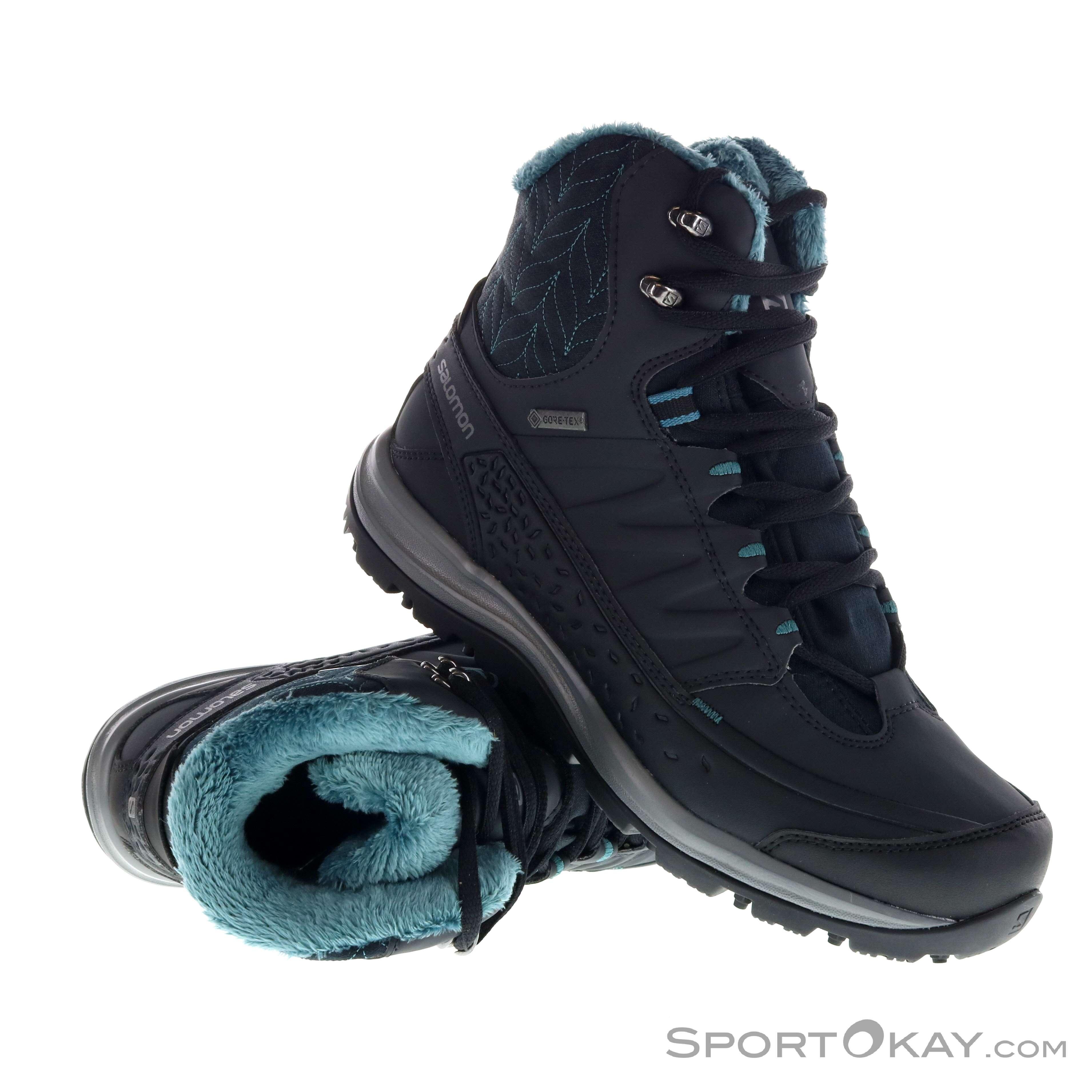 98e5f292123 Salomon Salomon Kaina Mid GTX Womens Winter Shoes Gore-Tex