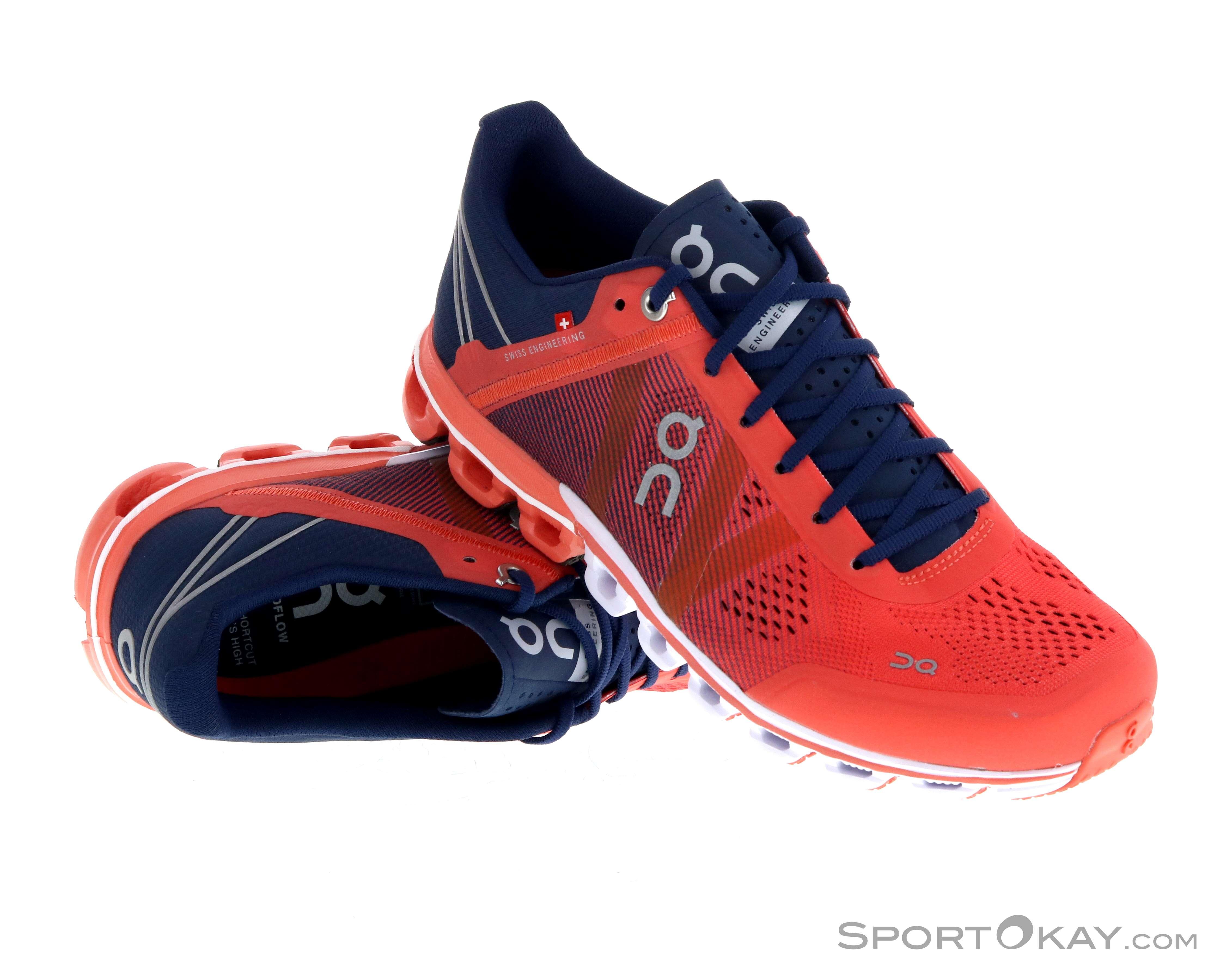 Schuhe: On Herren Laufschuhe Cloudflow blau Gr 43