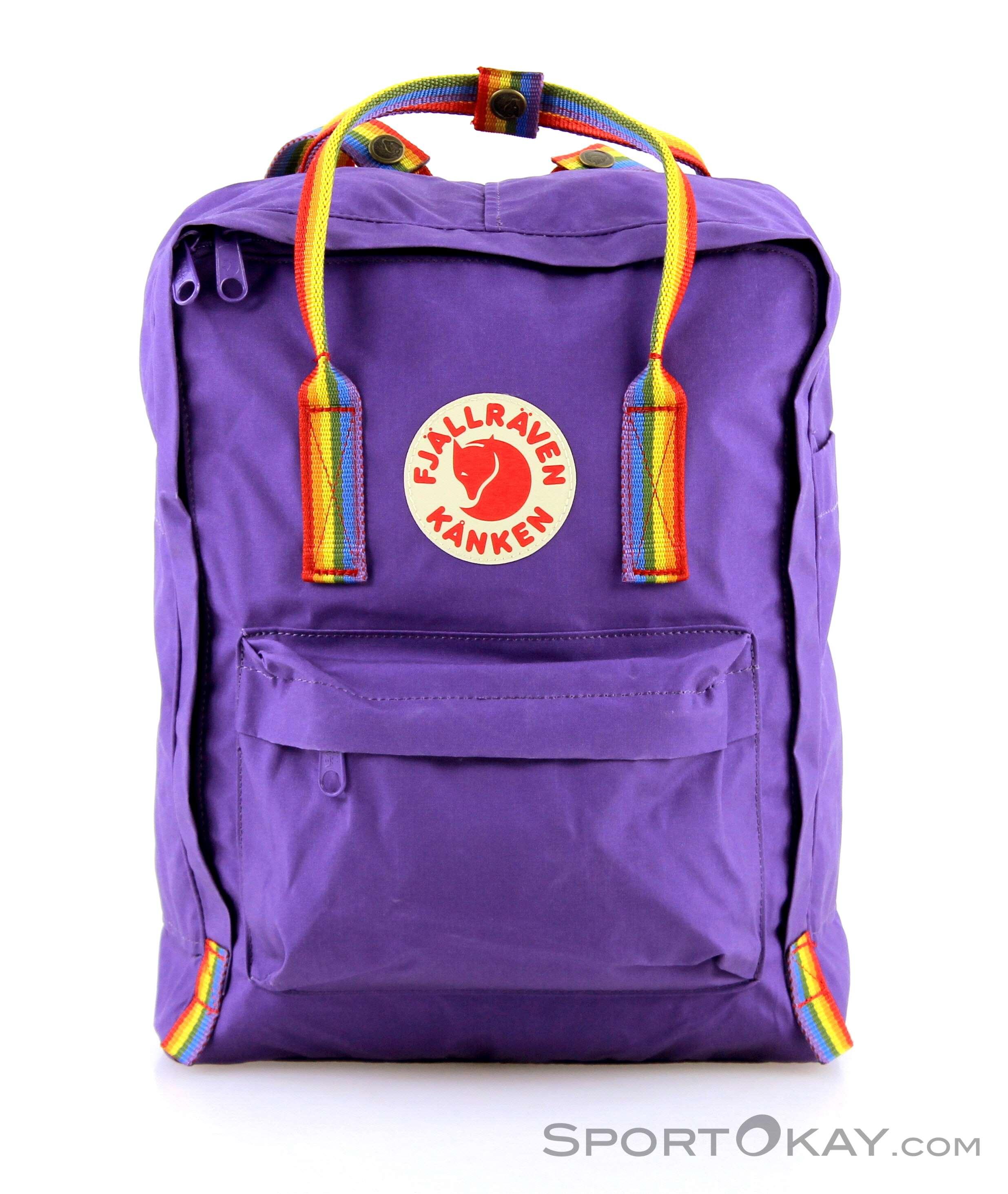 fdc4920e46 Fjällräven Kanken Rainbow 16l Backpack, Fjällräven, Purple, , Male,  0211-10201