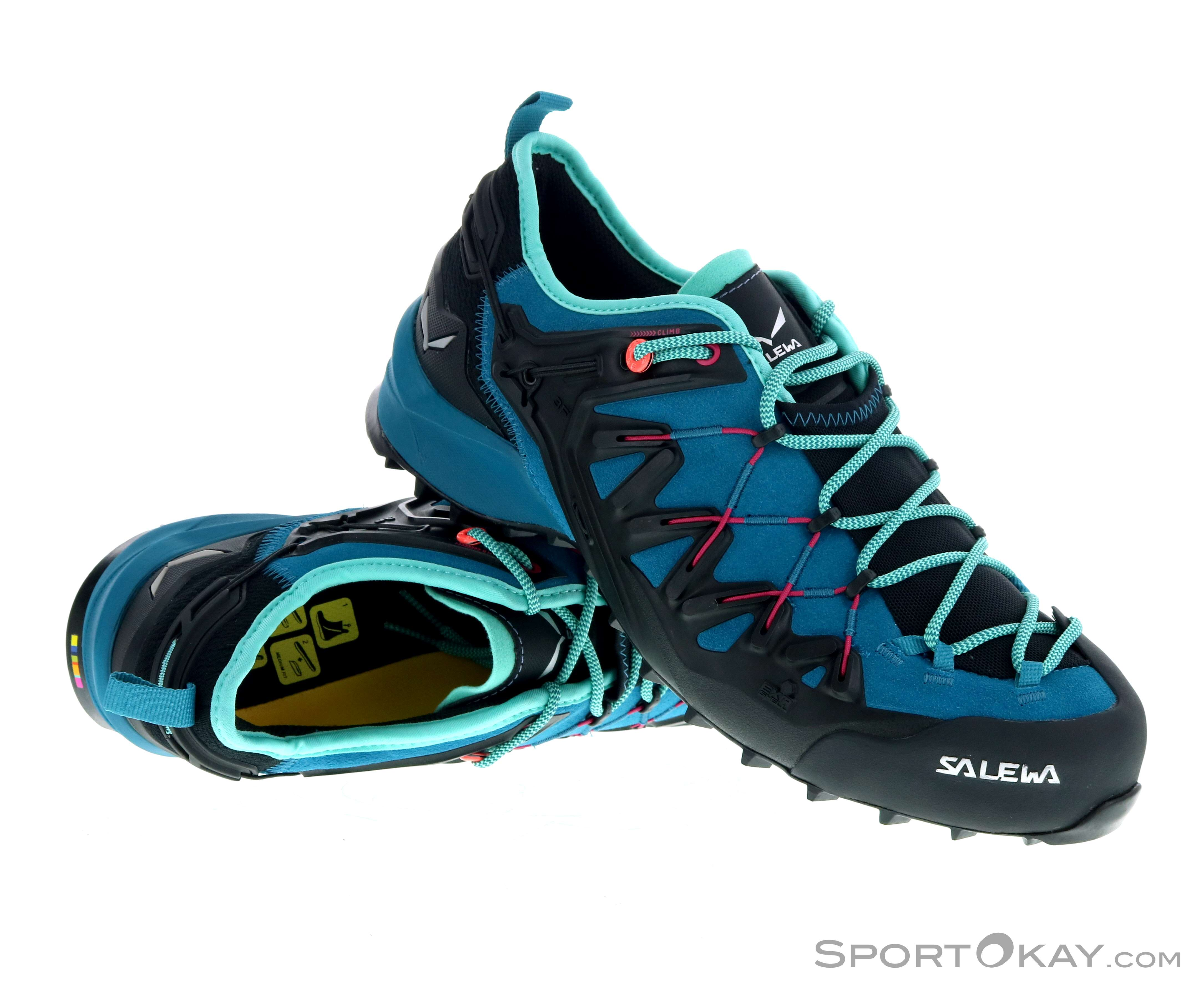 Salewa Mens Wildfire Edge Walking Shoes Black Blue Sports Outdoors Breathable