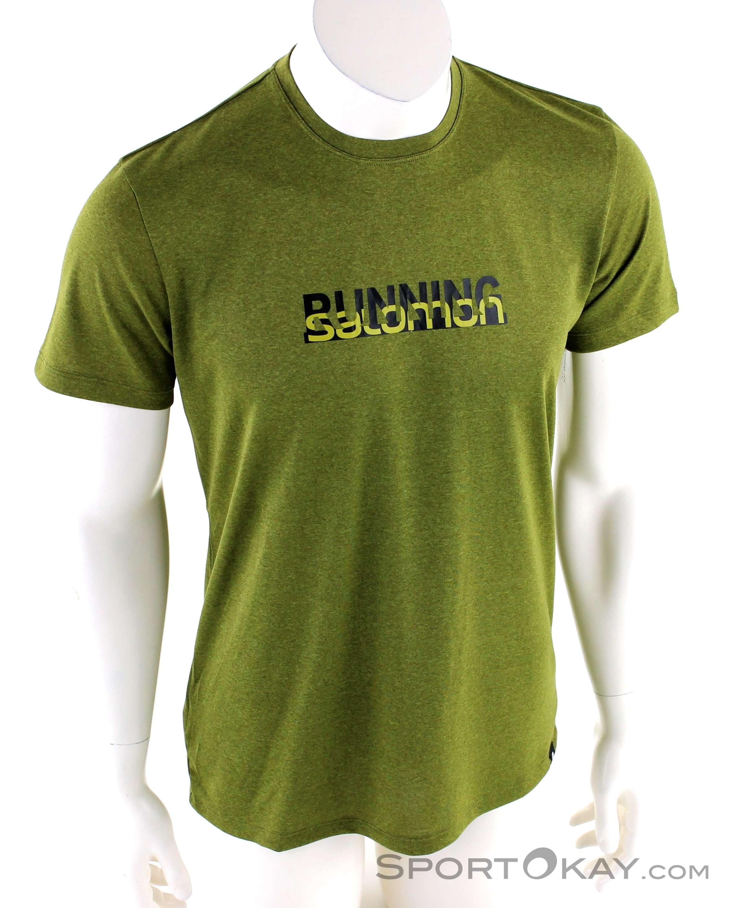 Salomon Agile Graphic t Shirt Herren green gab