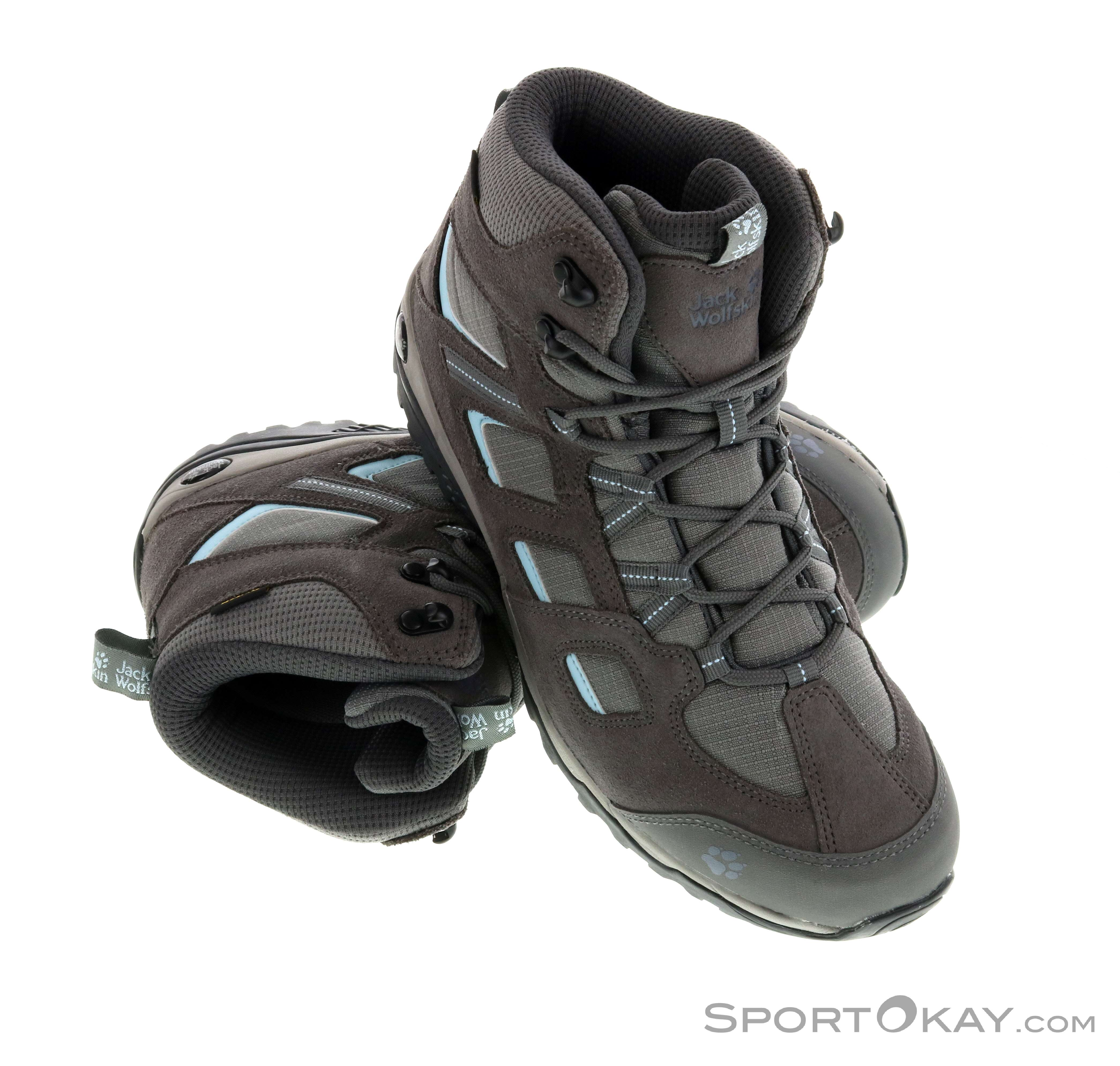 4ef2b69fb4 Jack Wolfskin Vojo Hike 2 Texapore Mid Womens Hiking Boots , Jack Wolfskin,  Gray,