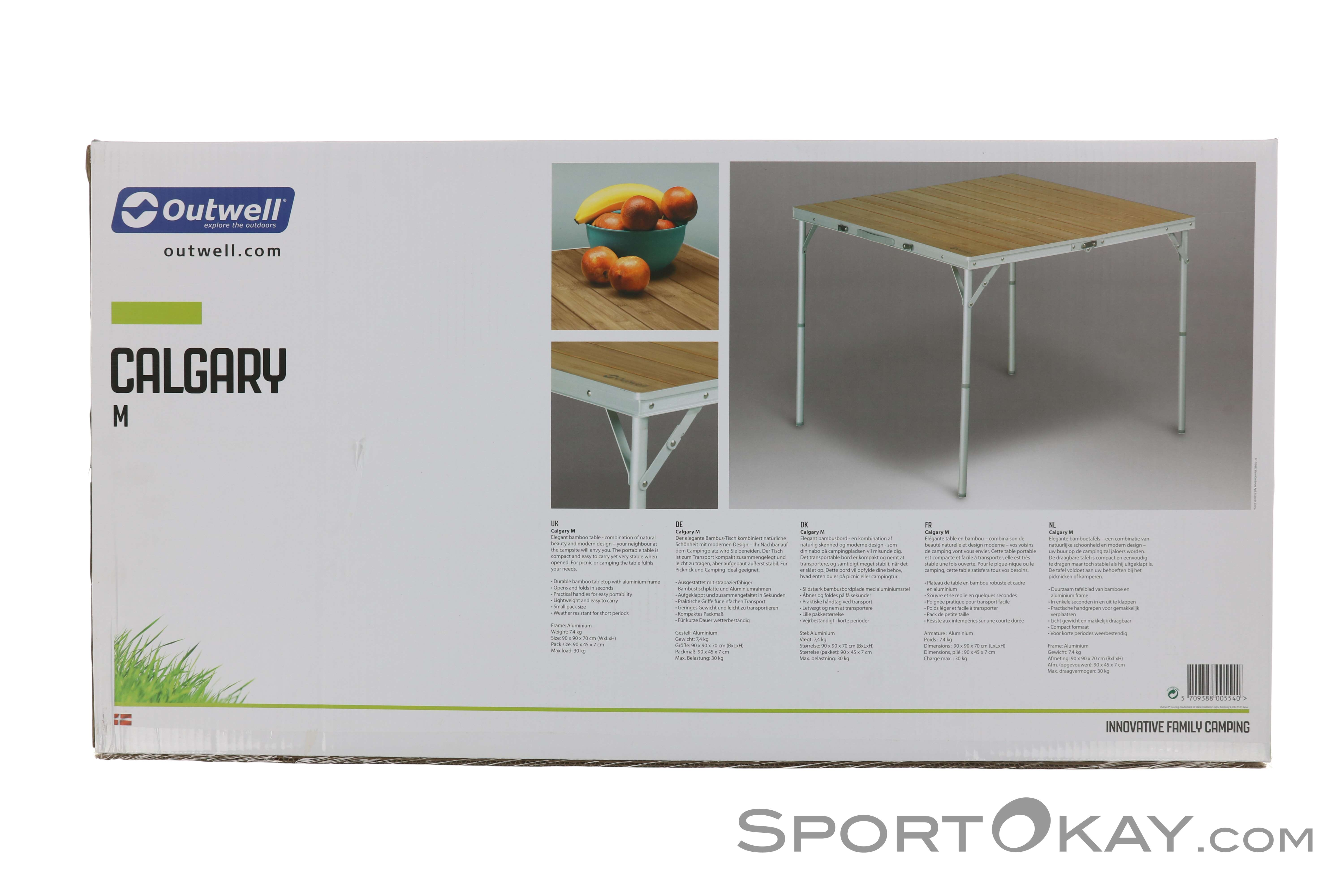 Outwell Camping Tafel.Outwell Outwell Calgary M Folding Table