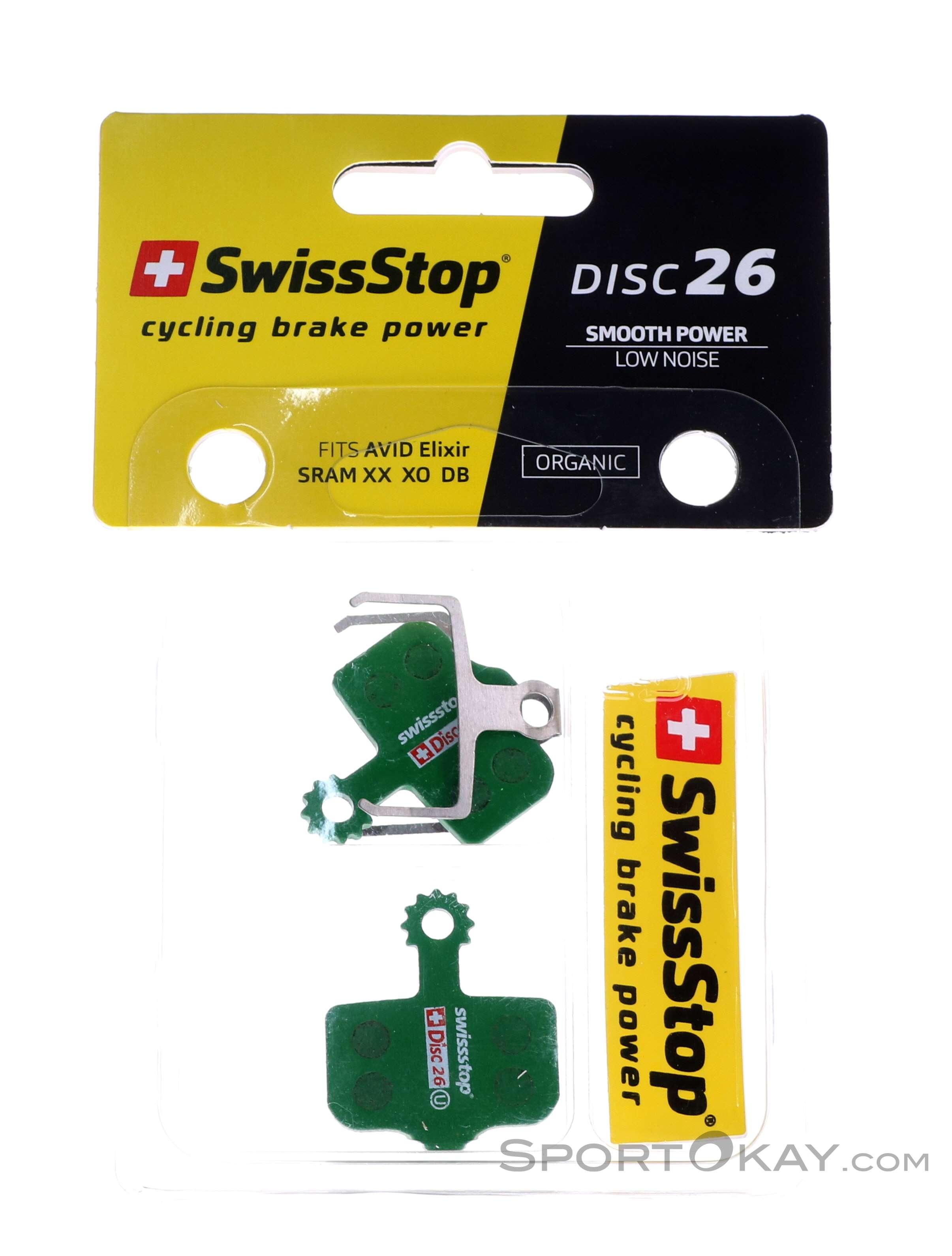 for SRAM Level T//TL SwissStop Organic Compound Disc Brake Pad Set DB Disc 26