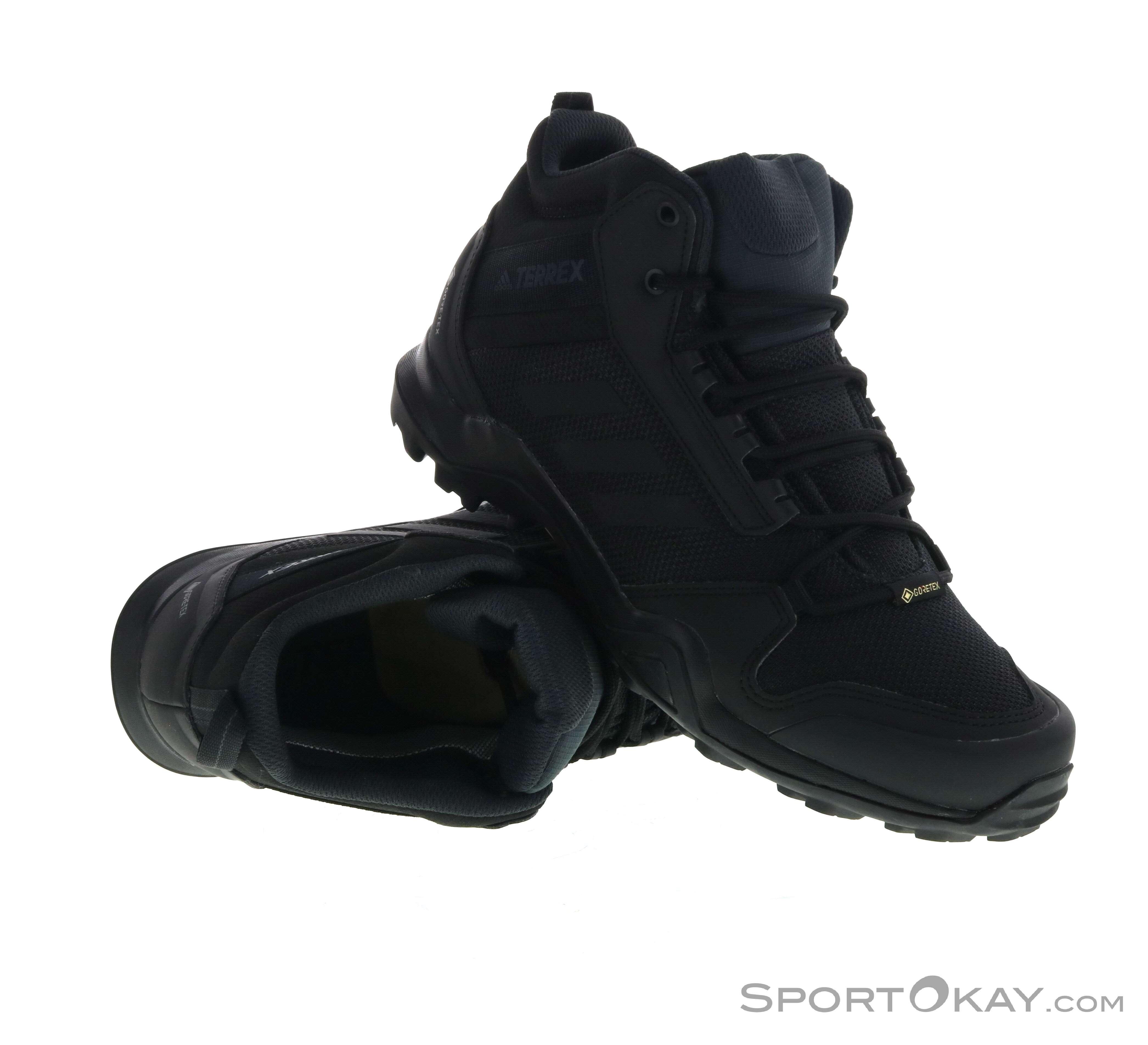 capitalismo vistazo recuperar  adidas Terrex AX3 Mid GTX Mens Hiking Boots Gore-Tex - Hiking Boots - Shoes  & Poles - Outdoor - All