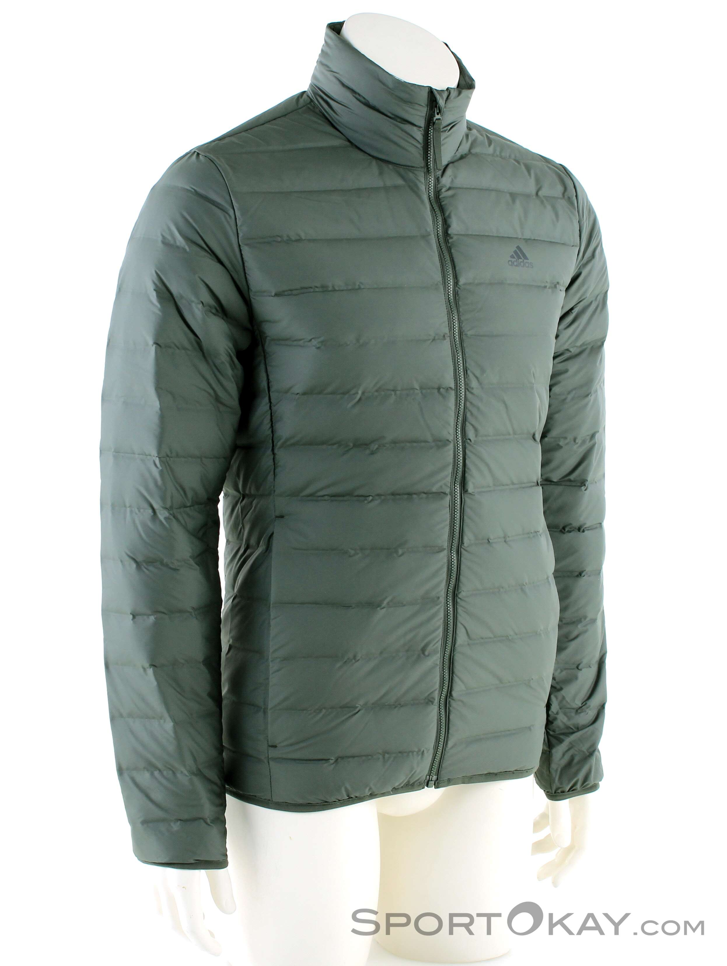 adidas Varilite Mens Down Jacket Green Full Zip Lightweight