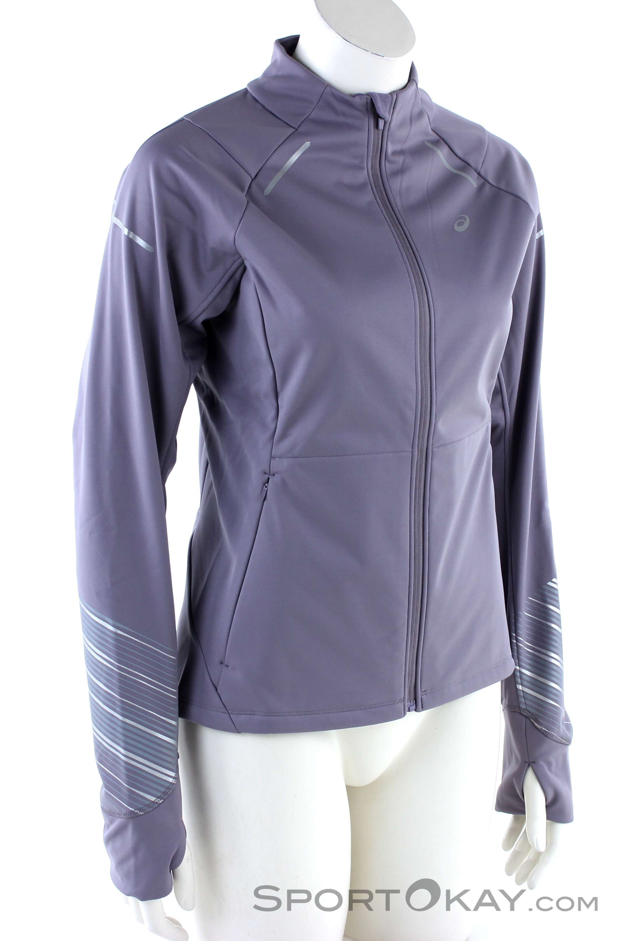 ASICS Damen Jacket Laufjacke, Blue Purple, S: