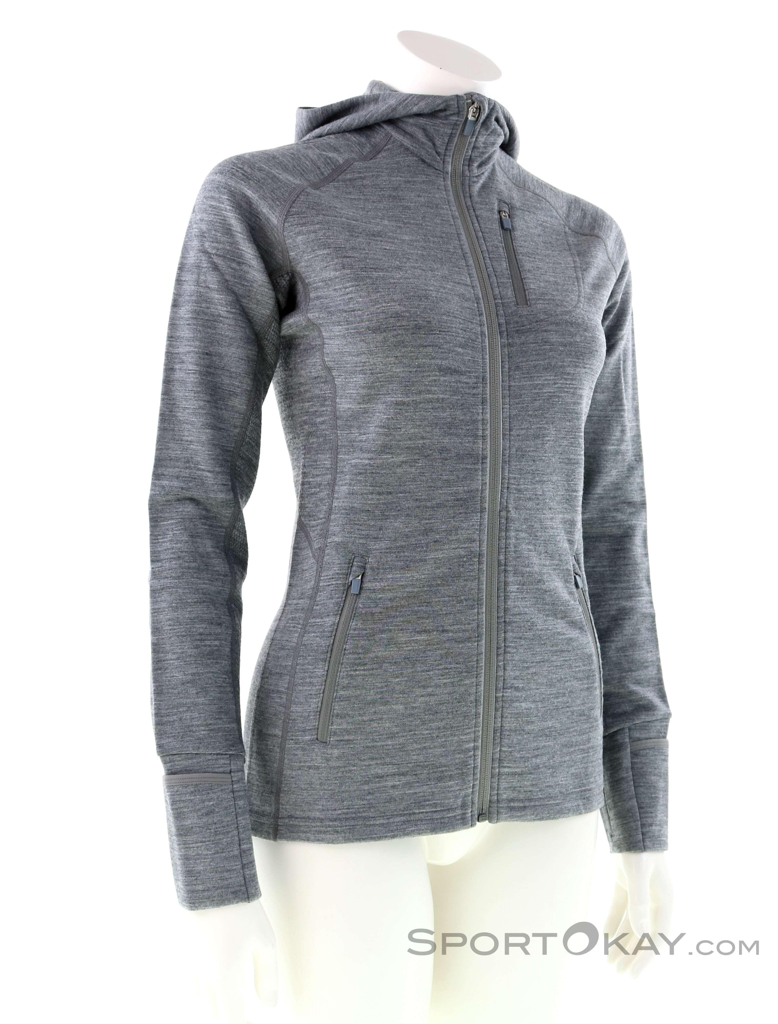 Icebreaker Icebreaker Quantum LS Zip Hood Damen Sweater
