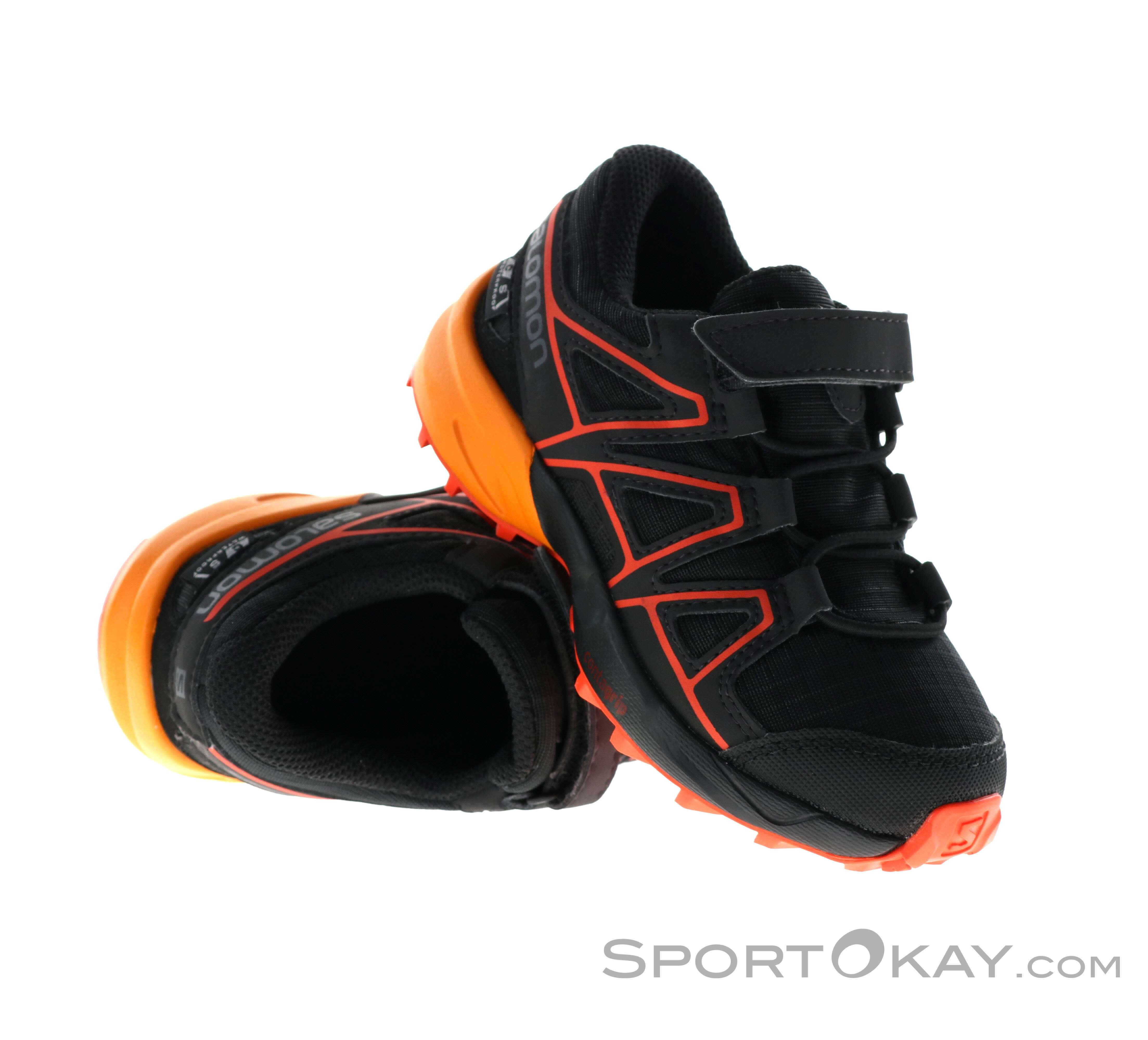 salomon speedcross 3 orange black junior