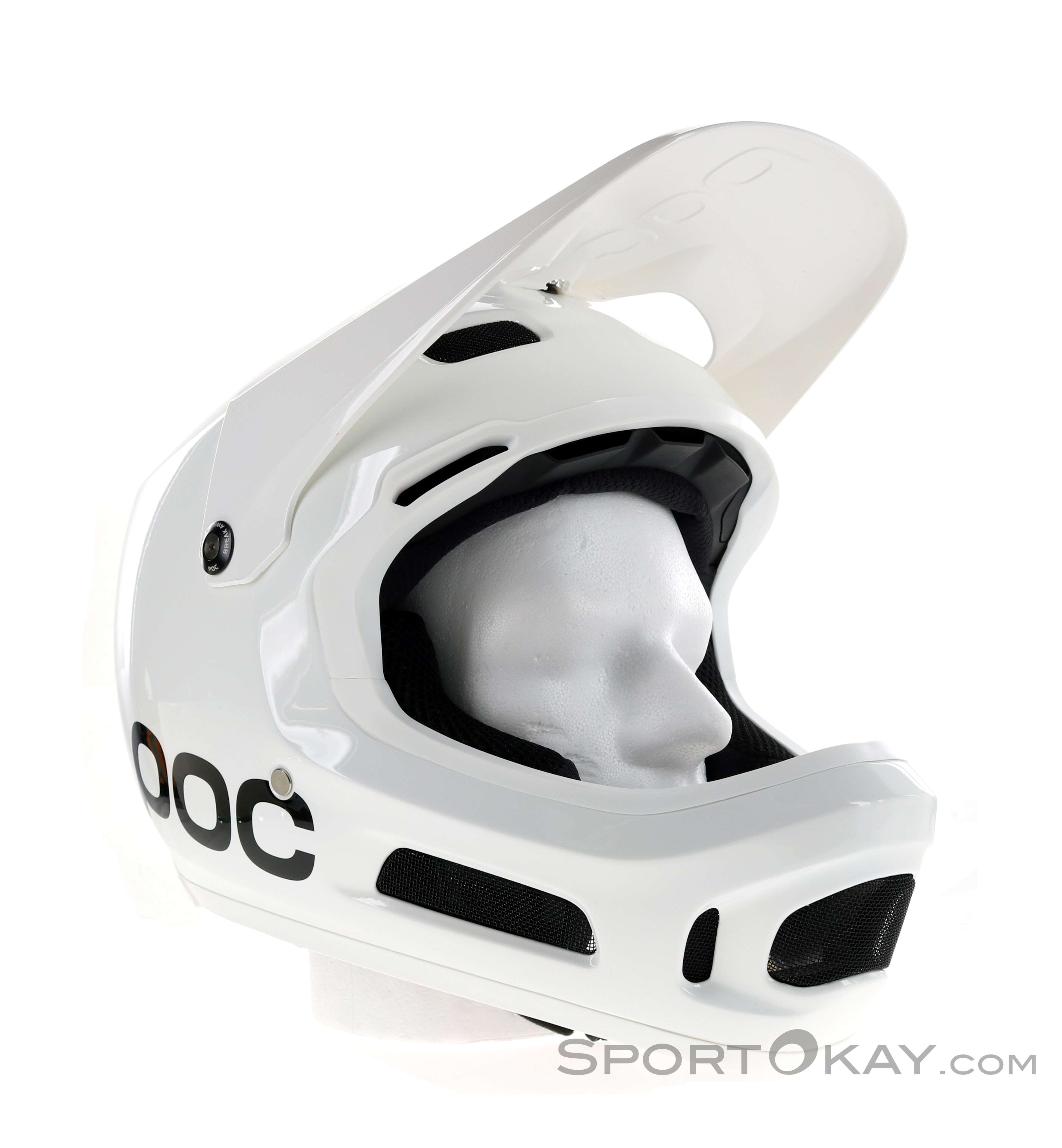 POC Coron Air Spin XS-S Hydrogen White Helmet for Downhill Mountain Biking
