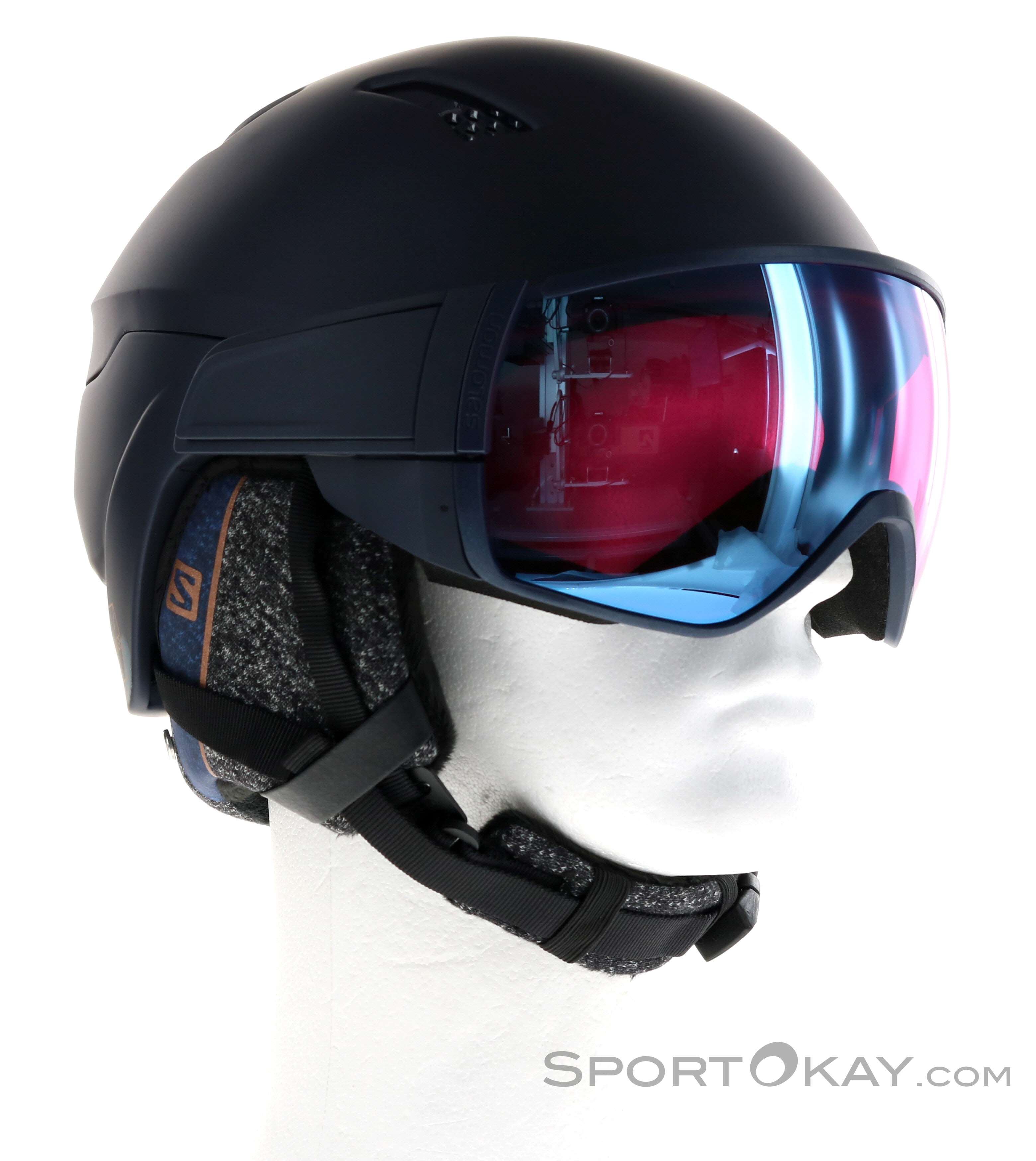 Vegetales Vacaciones Aliviar  Salomon Mirage CA Sigma Damen Ski Helmet with Visor - Ski Helmets - Ski  Helmets & Accessory - Ski & Freeride - All
