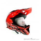 Airoh Fighters Trace Orange Gloss Downhill Helm