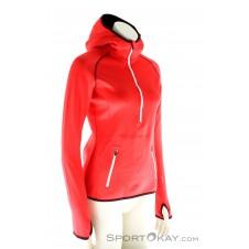 Ortovox MI Fleece Zip Neck Hoody Damen Tourensweater-Rot-XS