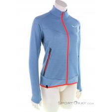 Salewa Pedroc Alpine Wool Full Zipp Damen Sweater-Blau-40