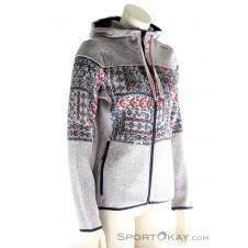 CMP Fix Hood Strickfleece Damen Outdoorsweater-Blau-34