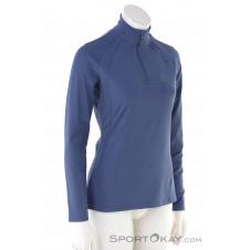 Löffler Pulli Basic Thermo-Velours HZ Damen Sweater-Blau-40