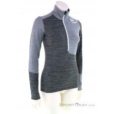 Ortovox Fleece Light Zip Neck Damen Sweater-Grau-M
