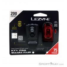 Lezyne KTV Drive/KTV Pro Smart Set Fahrradbeleuchtung-Schwarz-One Size