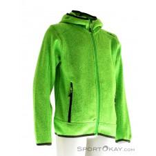 CMP Strickfleece Fix Hood Jungen Outdoorsweater-Grün-140