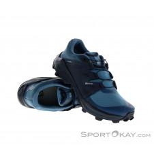 Salomon Wildcross GTX Damen Traillaufschuhe Gore-Tex-Blau-7,5