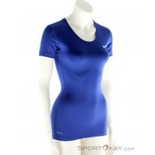 Nike Pro Cool Damen Fitnessshirt-Blau-XL