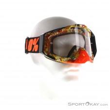 100% Racecraft Anti Fog Clear Lens Goggle Downhillbrille-Schwarz-One Size