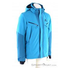 Salomon Icecool Jacket Herren Skijacke-Blau-S