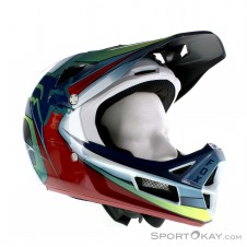 Fox Rampage Pro Carbon Kustom MIPS Downhill Helm-Blau-S