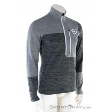 Ortovox Fleece Light Zip Neck HZ Herren Sweater-Grau-M